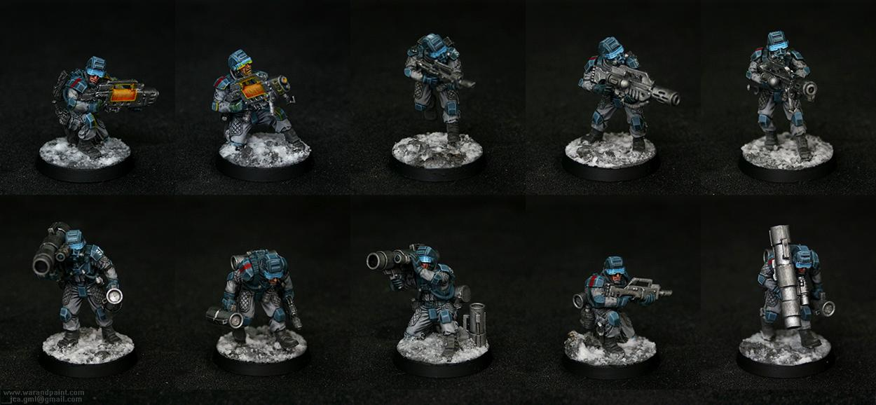 Drop Troops, Elysian, Forge World, Jca, Missile Launcher, Plasma, Winter