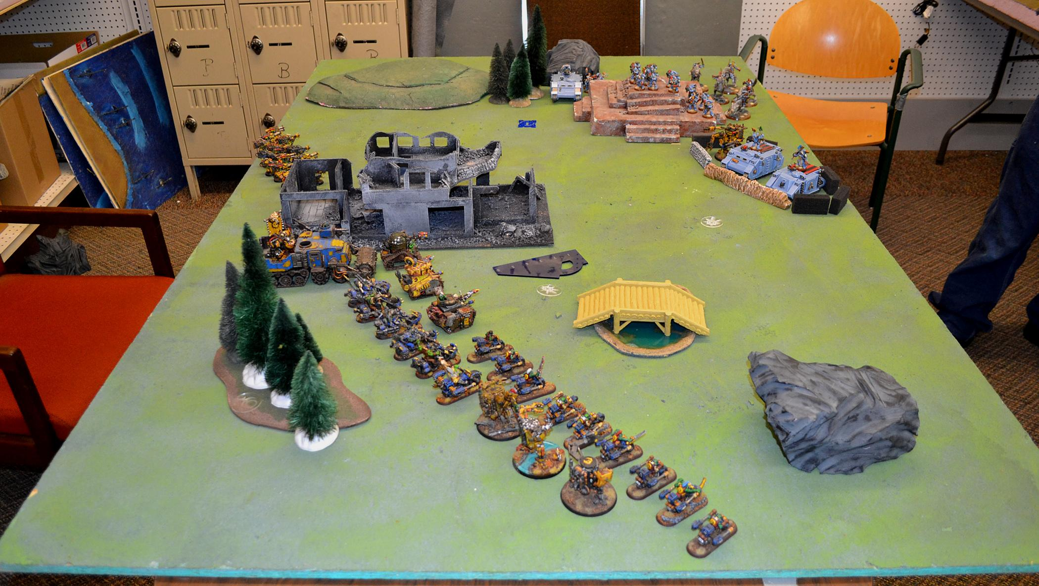 Bad Moons, Battle Report, Orks, Space Marines, Space Wolves, Warhammer 40,000