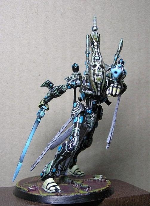 Eldar, Freehand, Skull, Warhammer 40,000, Wraithlor, Wraithlord