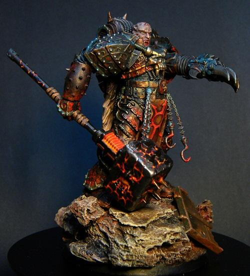 85mm, Chaos Space Marines, Large, Painted, Warhammer 40,000
