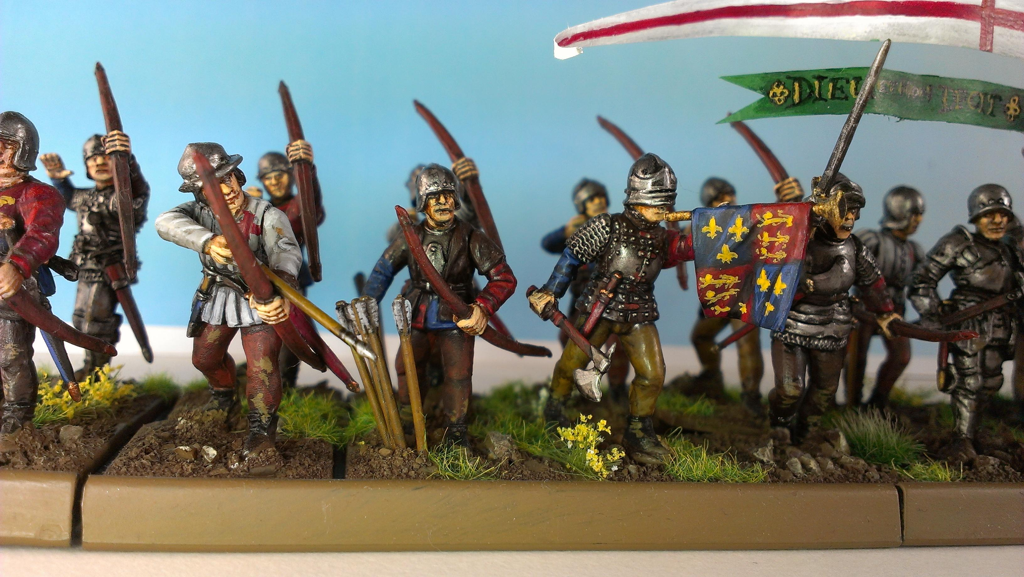 English, Historical, Longbowmen, Perry Miniatures, Wab