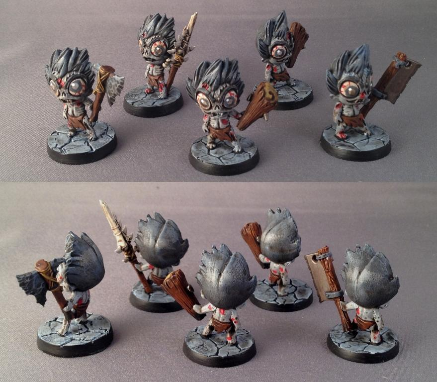 Chibi, Impact! Miniatures, Zombie