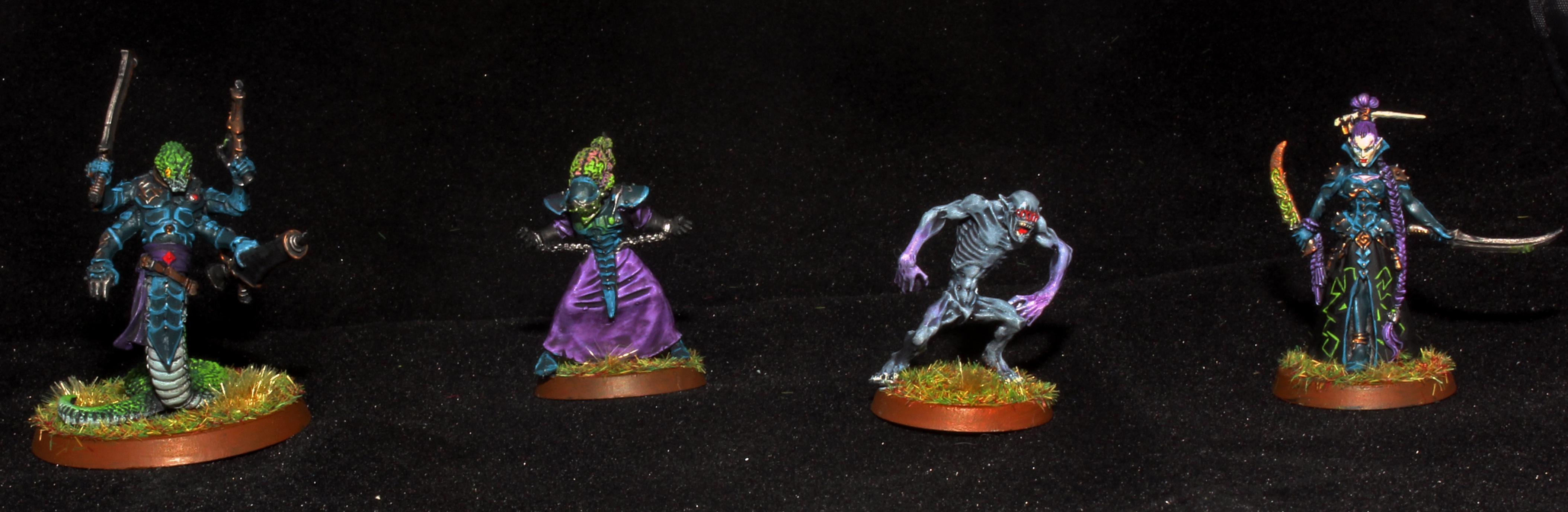 Court Of The Archon, Dark Eldar, Lhamaean, Medusae, Sslyth, Ur-ghul