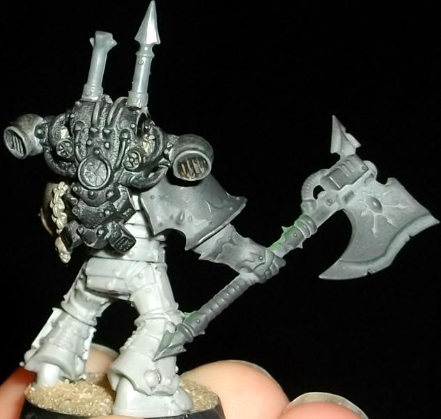 Black Crusade, Chaos, Chaos Space Marines, Conversion, Daemon Weapon, Iron Suns, Iron Warriors, Mark 3, Mark Iii, Power Axe
