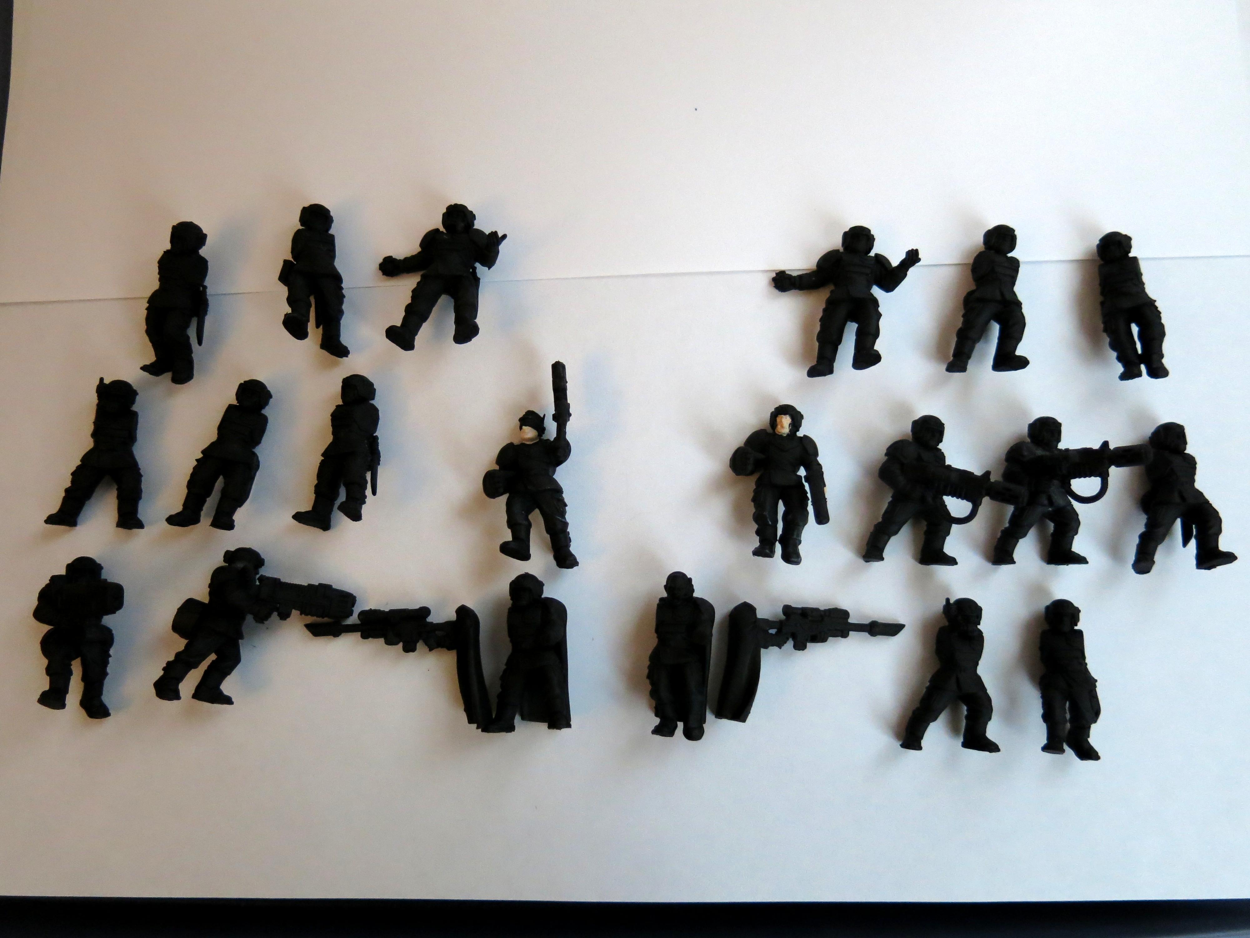 Harakoni, Warhawks, WIP Veteran Squads