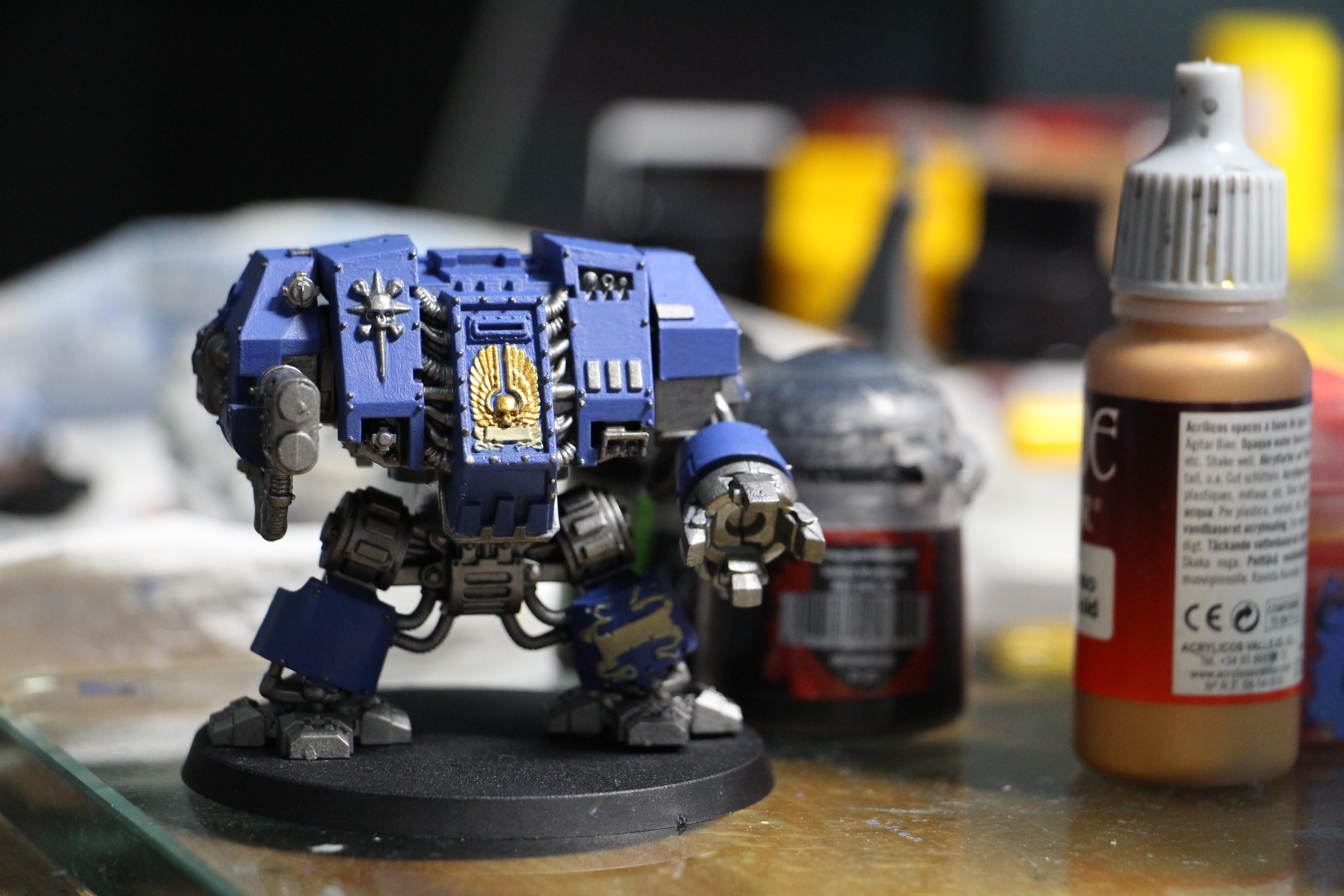 Space Marine Dreadnought, Space Marines, Ultramarines