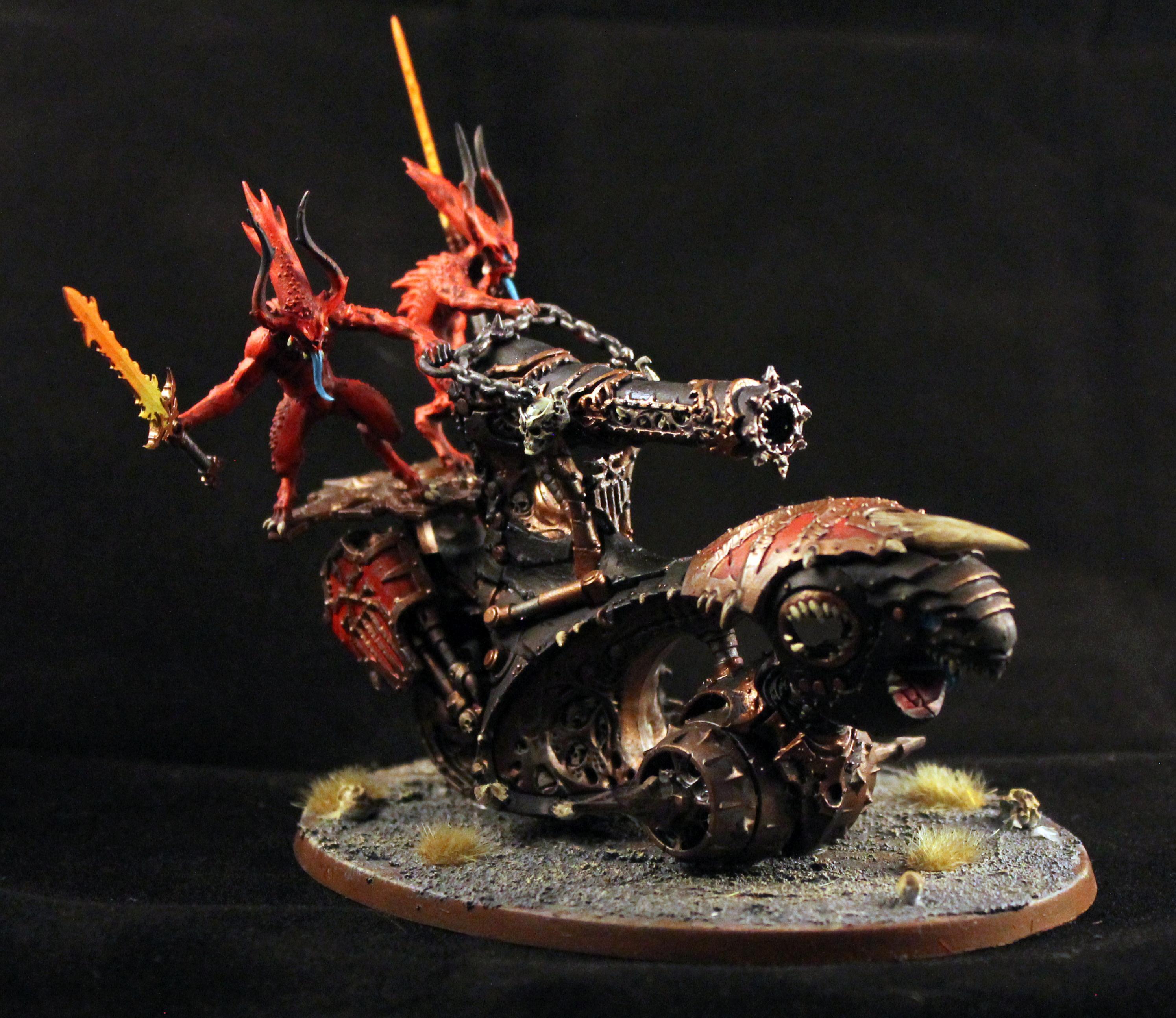 Chaos Daemons, Chaos Demon, Games Workshop, Khorne, Skull Cannon, Warhammer 40,000