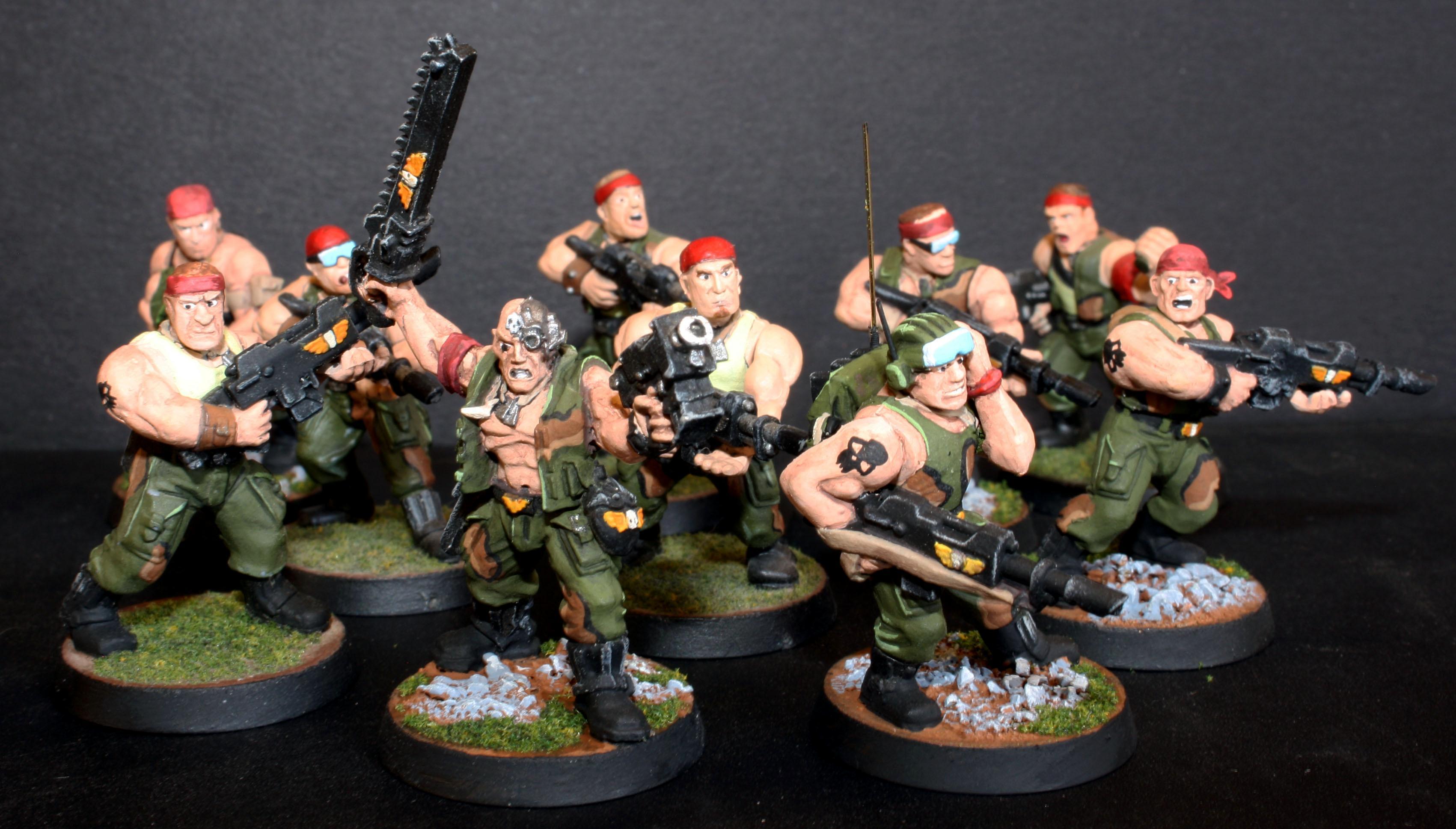 Astra Militarum, Catachan, Imperial Guard, Infantry Squad