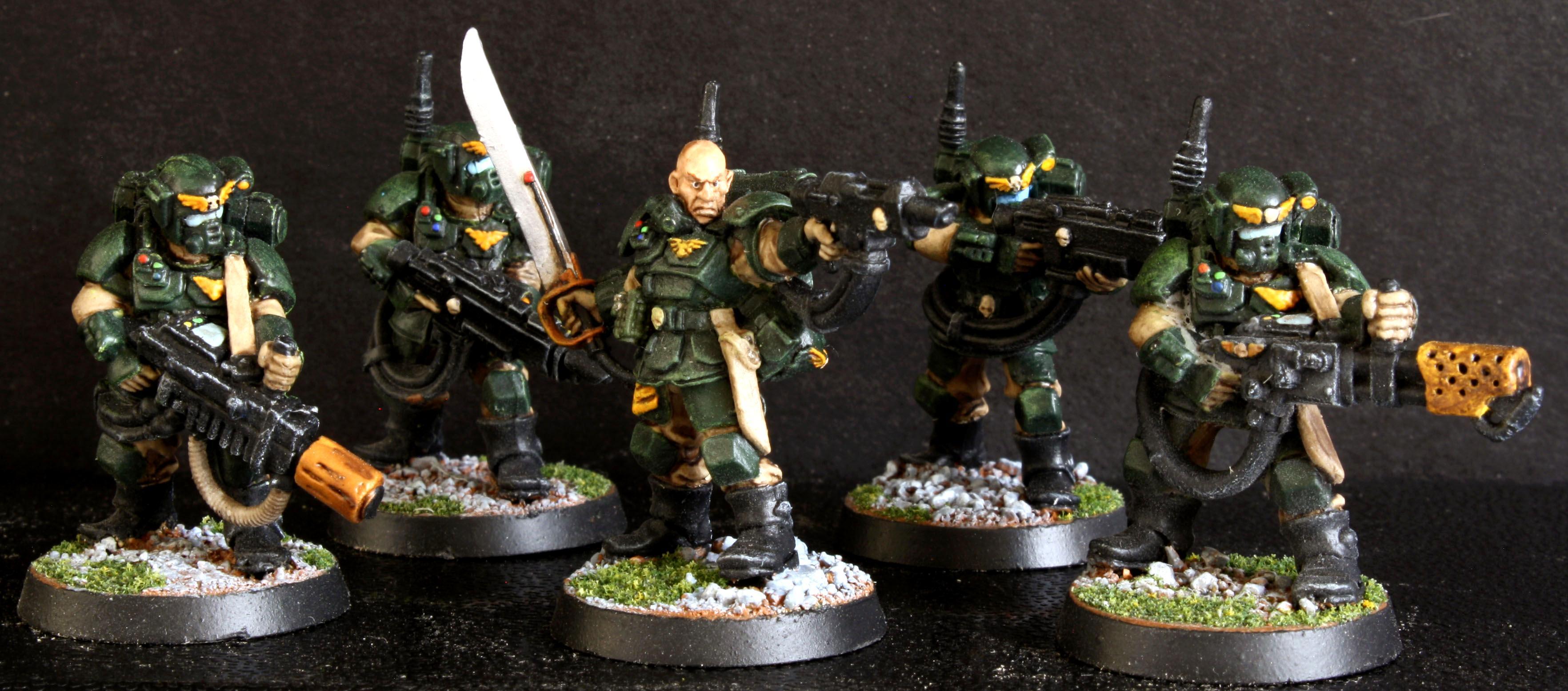 Astra Militarum, Imperial Guard, Kasrkin, Kasrkin Stormtroopers, Storm Troopers, Stormtrooper Squad