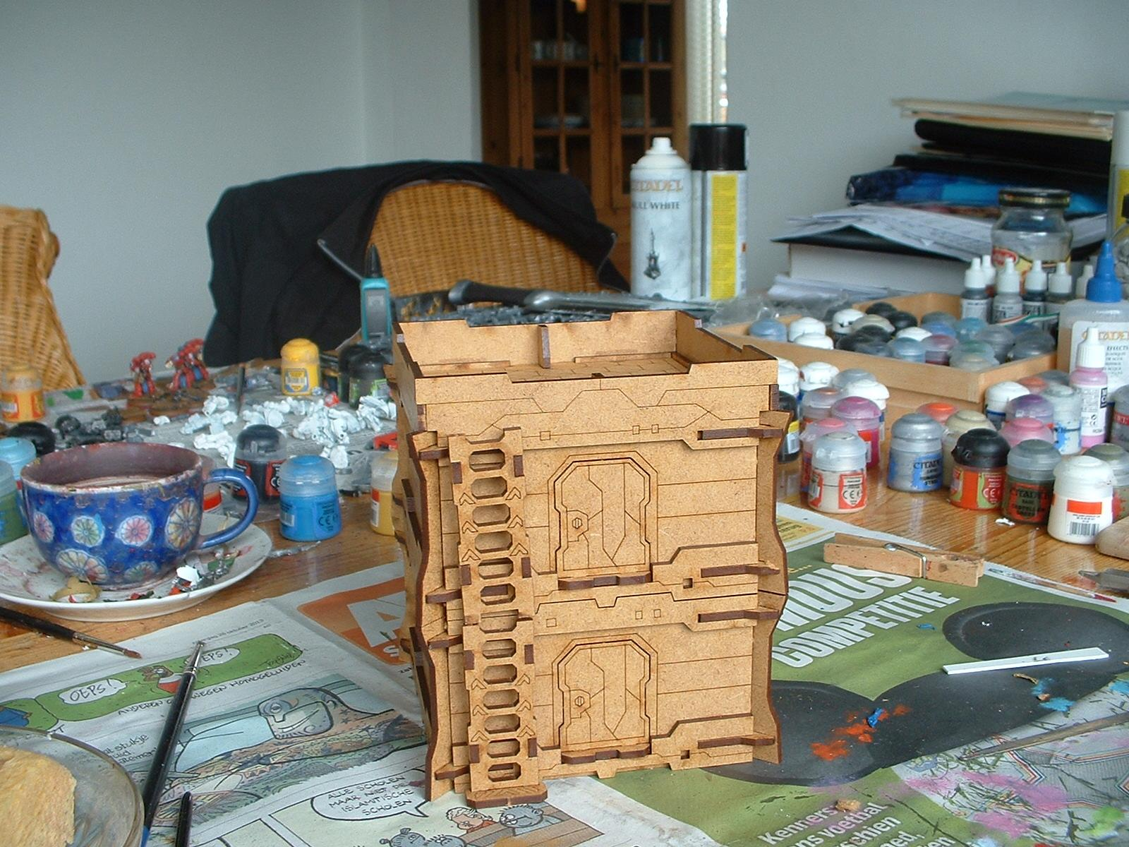 Bunker, Mdf, Micro Art Studios, Terrain, Work In Progress