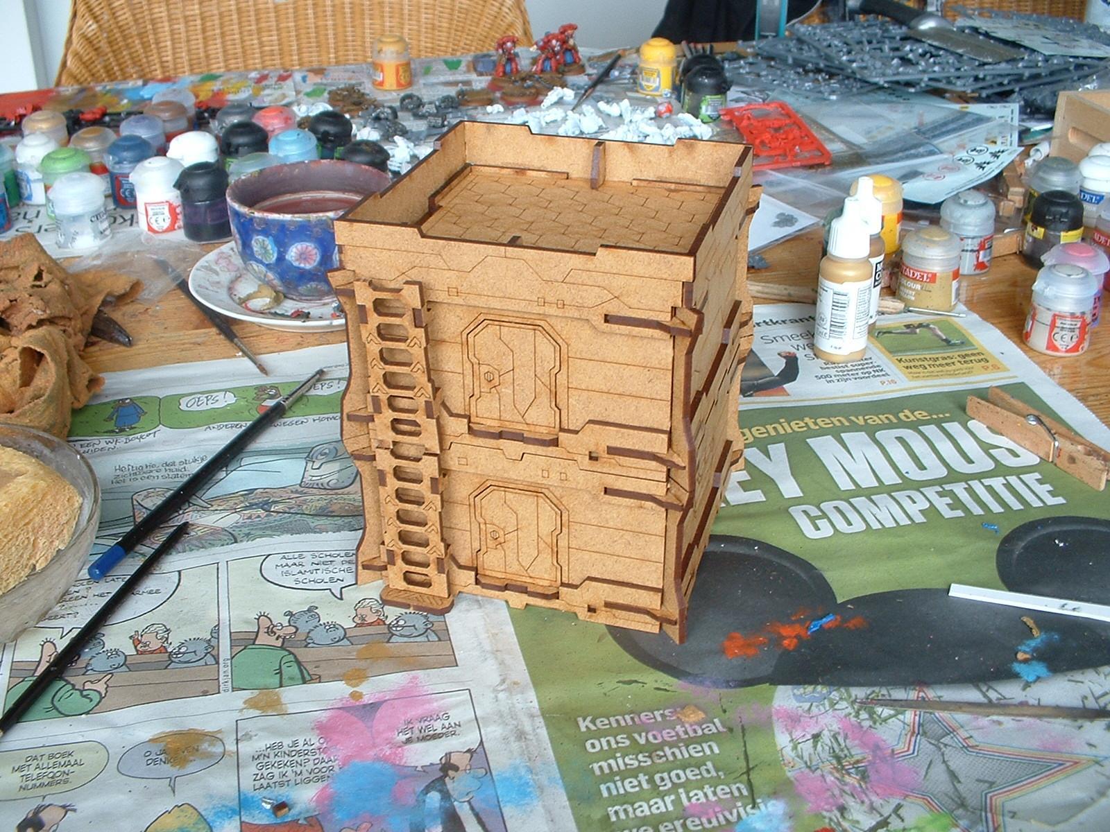 Bunker, Mdf, Micro Art Studios, Terrain, Work In Progress