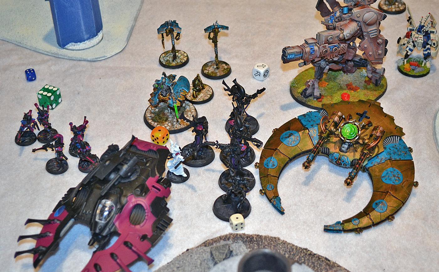 Battle Report, Eldar, Necrons, Tau, Warhammer 40,000