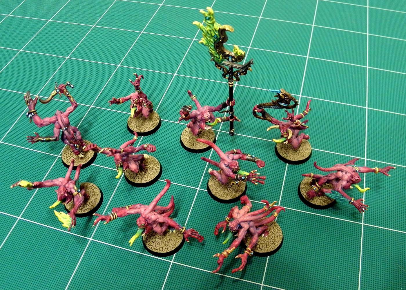 Agrellan Earth, Chaos, Chaos Daemons, Chaos Space Marines, Daemons, Desert, Horrors, Pink Horros, Tzeentch, Warhammer 40,000, Warhammer Fantasy