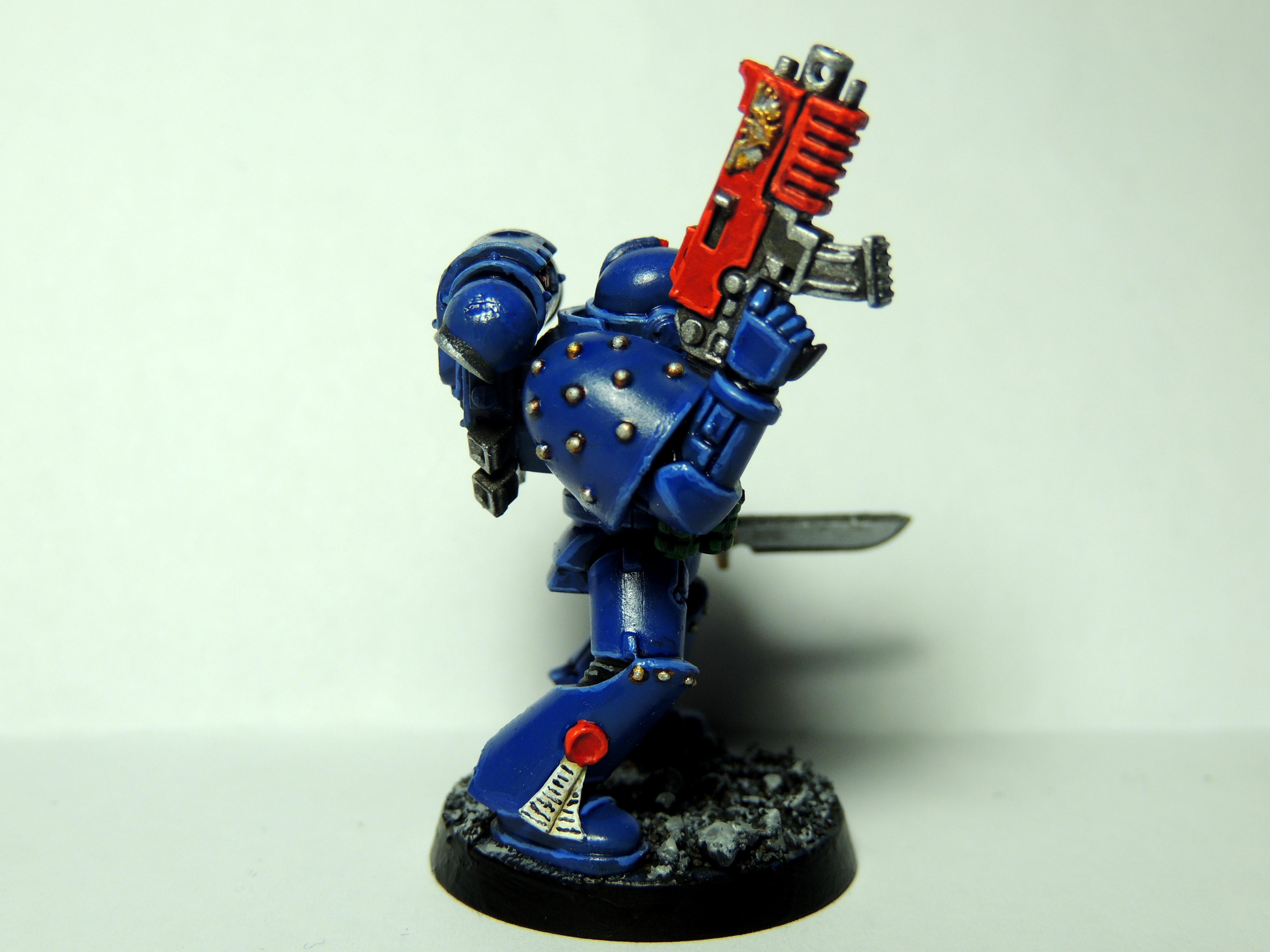 Blue, Bolter, Glaze, Space, Space Marines, Ultramarines