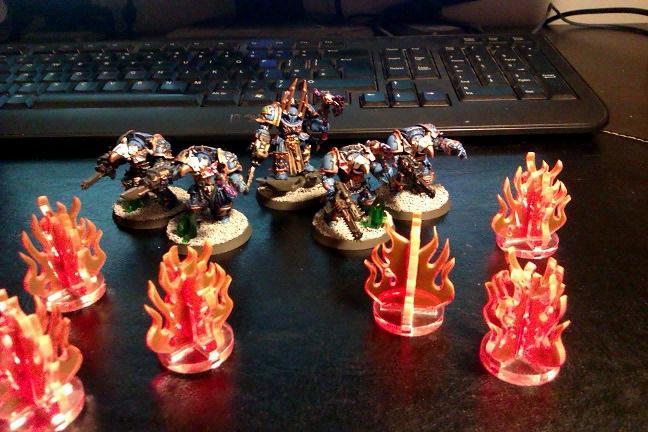 Flames, Laser Cutter Work, Marker, Thousand Sons, Token
