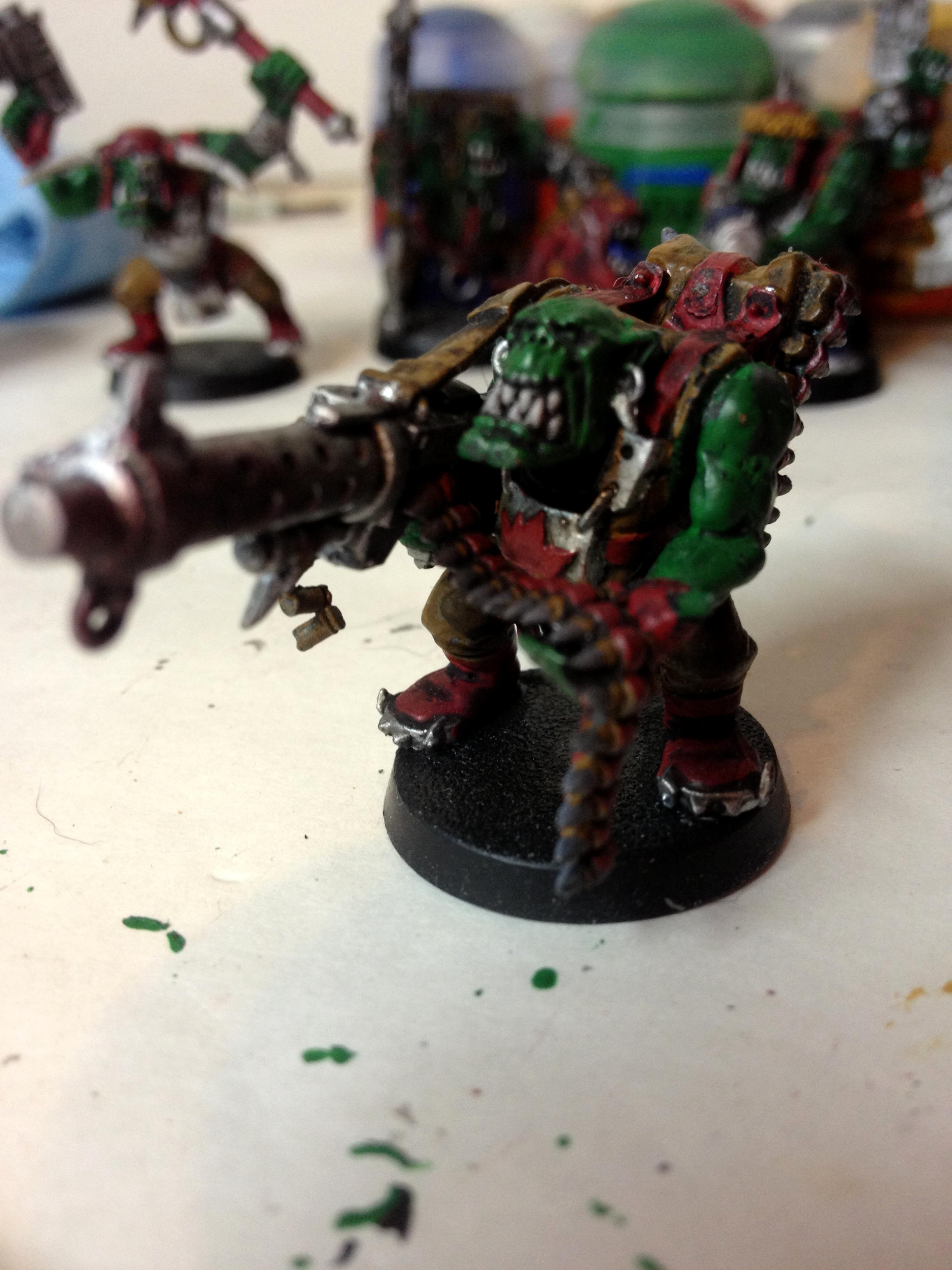 ork boy with big shoota