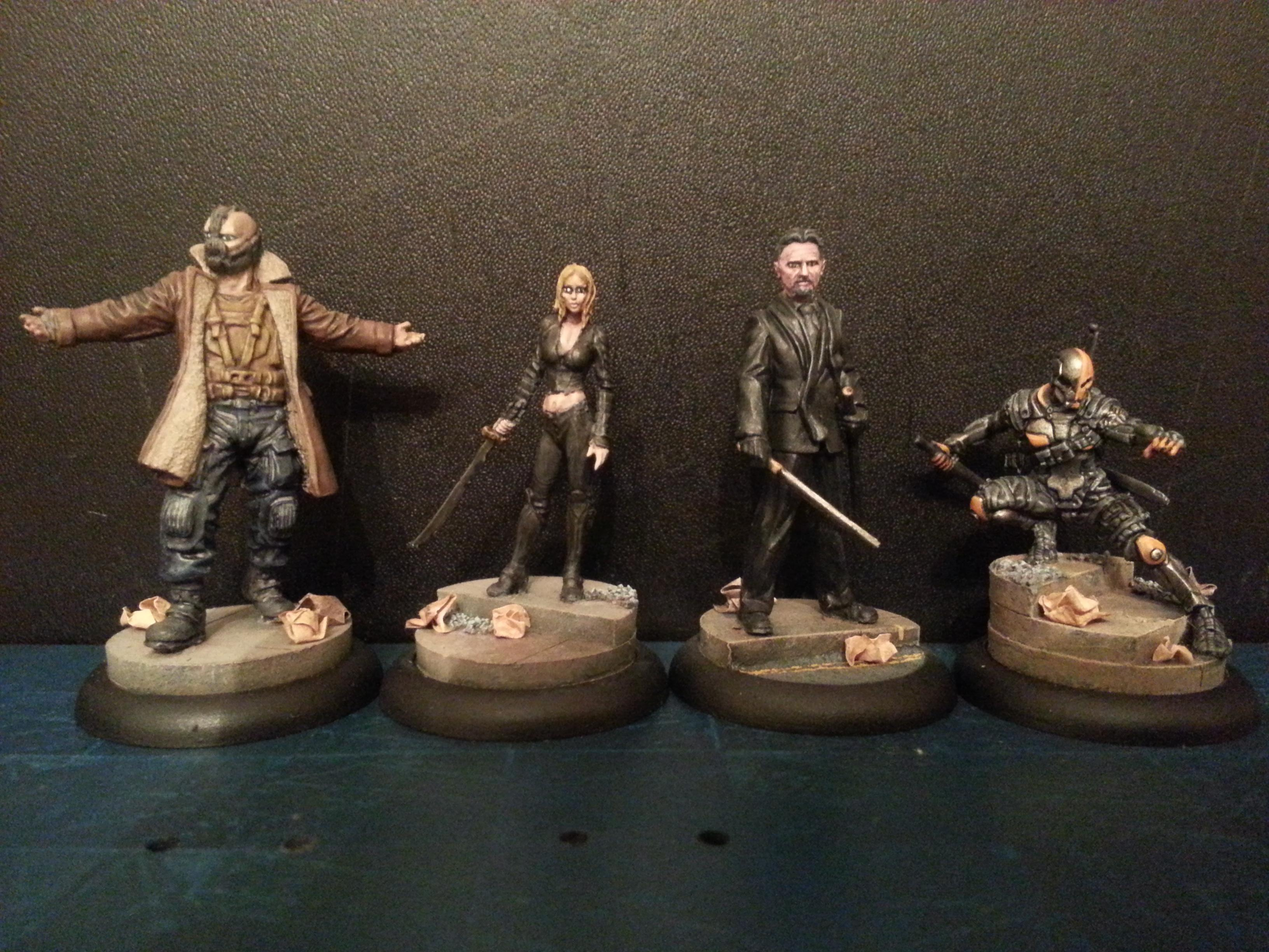Bane, Batman, Comic, Dark, Dc, Knights, League, Miniatures, Models, Nolan, Penguin, Ras Al Ghul, Shadows
