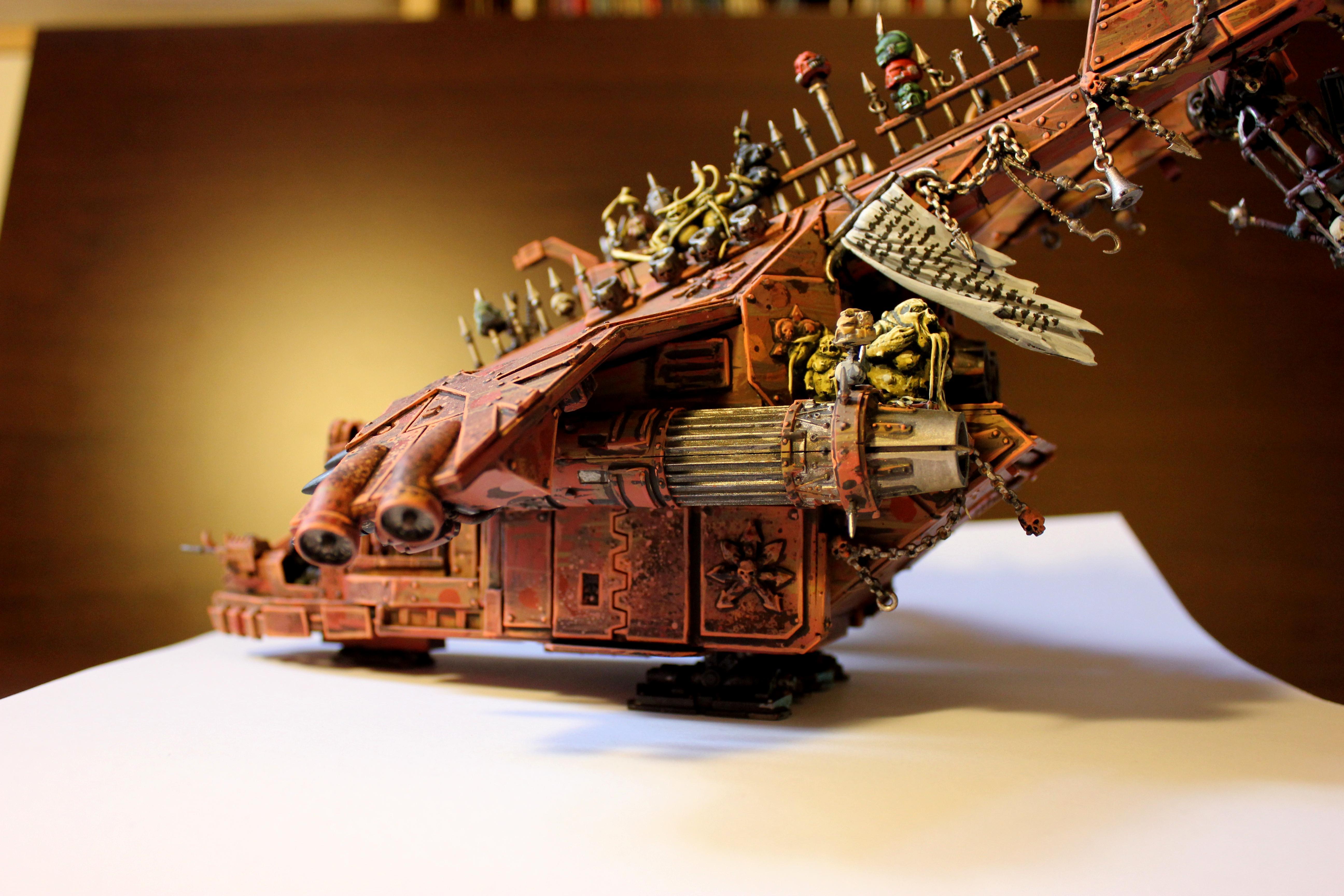 Air, Bomber, Chaos Flyer, Chaos Space Marines, Conversion, Höllendrache, Havocs, Helldrake, Jet, Kyborks, Nurgle, Slaanesh, Umbau, Warhammer 40,000