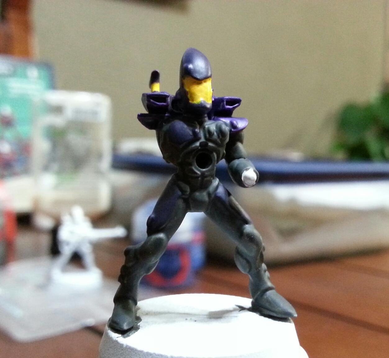 Eldar, Noob Painting, Purple, Yellow