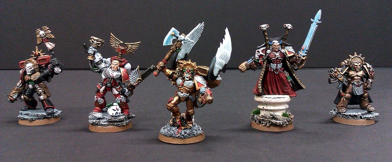 Blood Angels, Chaplain, Command, Dante, Headquarters, Mephiston, Old Models, Tycho