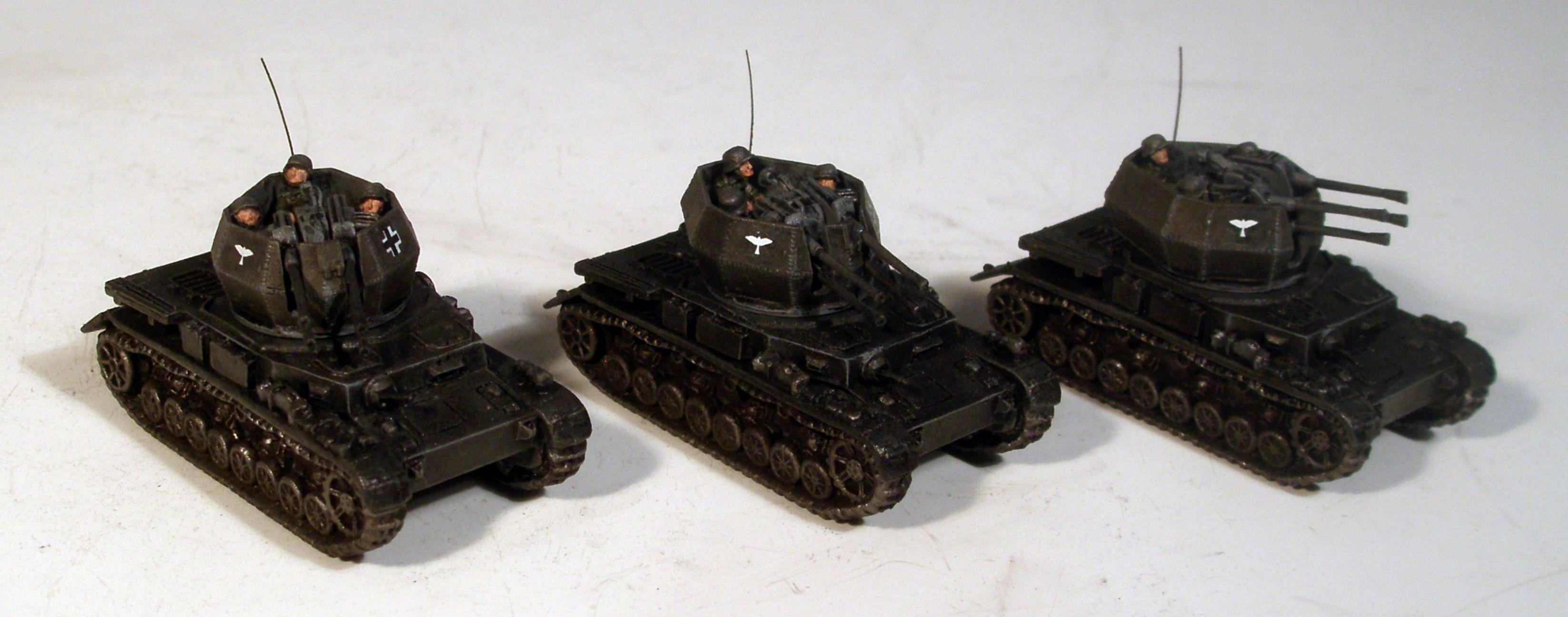 Flak, Flames Of War, Germans, Panzer, Wirbelwind