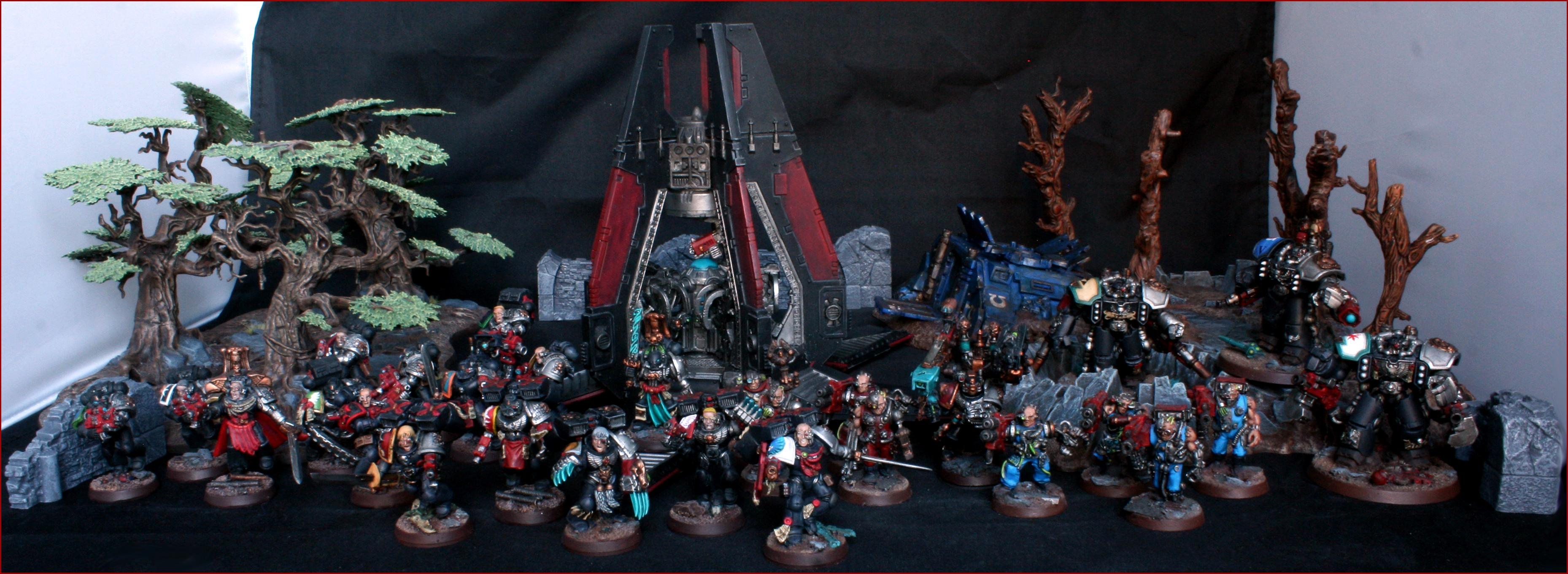 Angel, Arkaal, Blood, Centurion, Dark, Death, Drop, Pod, Servitors, Space, Space Marines, Techmarine, Ultramarines, Vanguard, Watch, Wolve