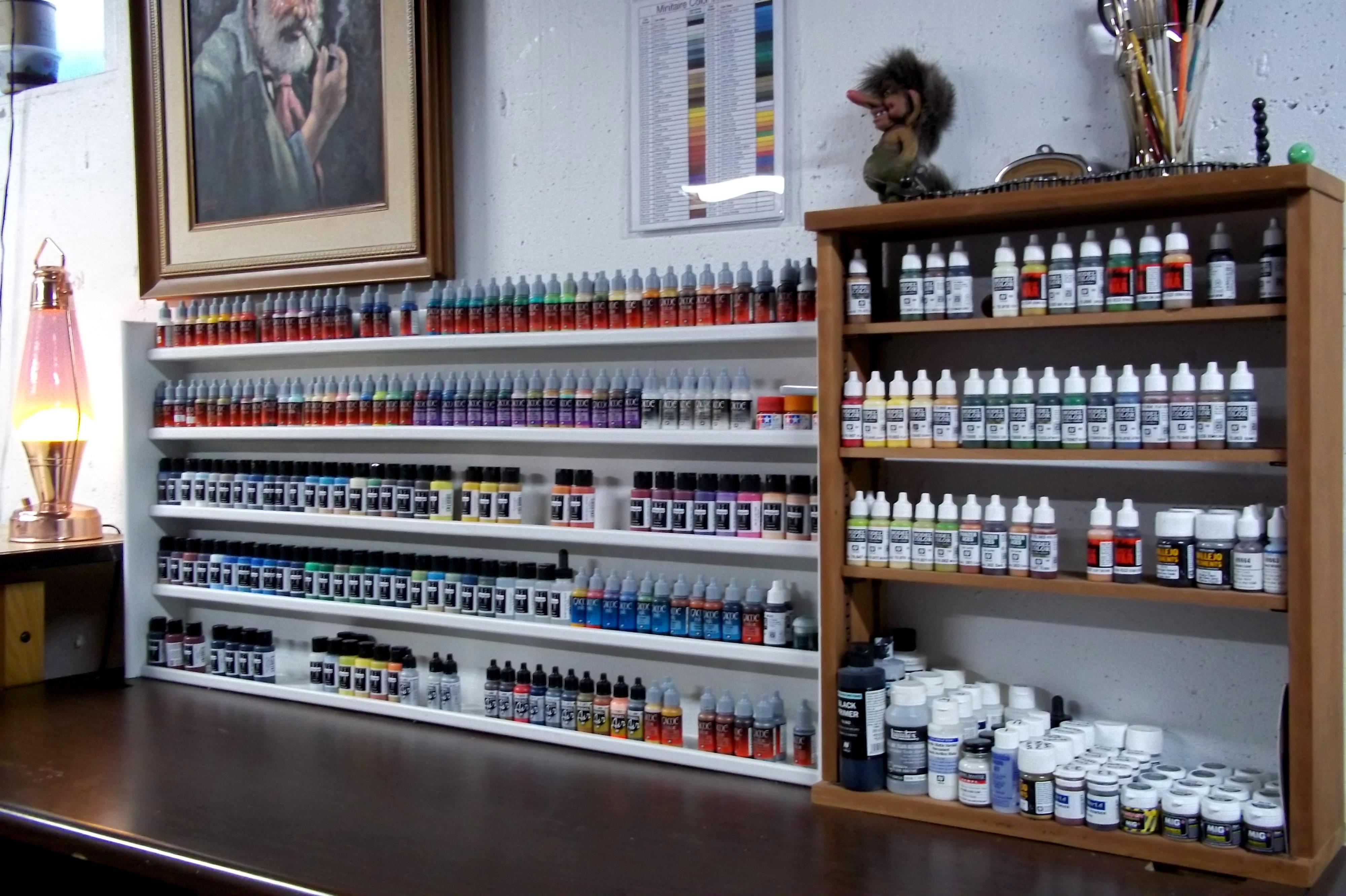 Painting, Rack, Shelf, Storage