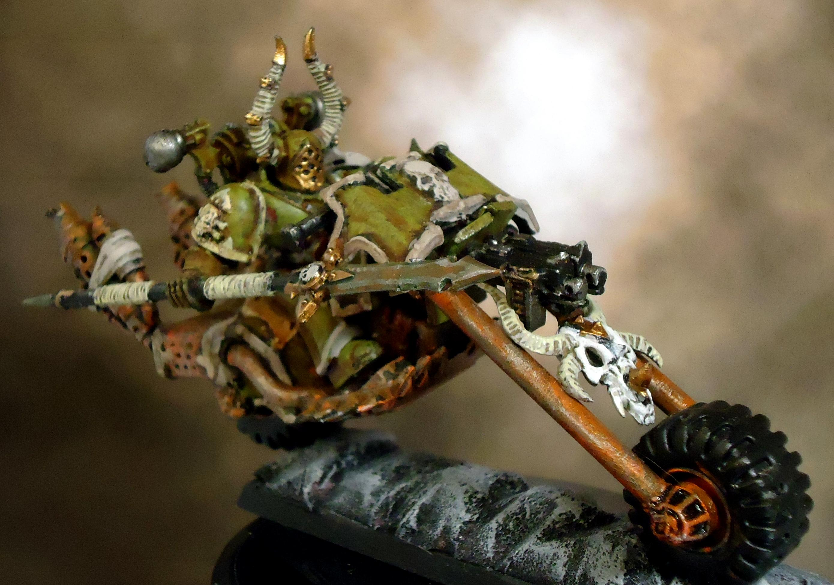 Bike, Chaos Space Marines, Death Guard, Decay, Nurgle, Rust