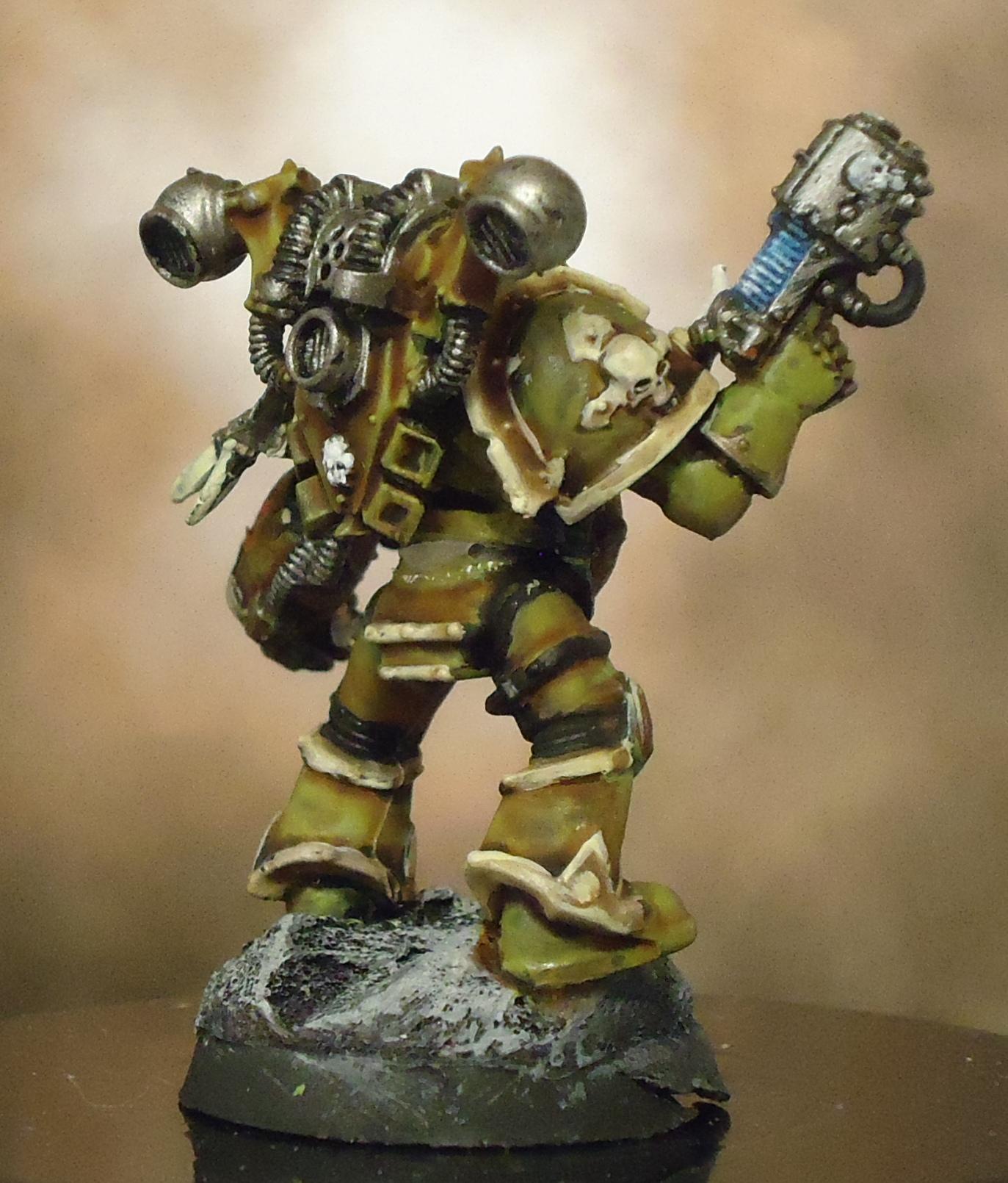 Chaos Space Marines, Death Guard, Decay, Nurgle, Plague Marines, Plasma Pistol, Rot