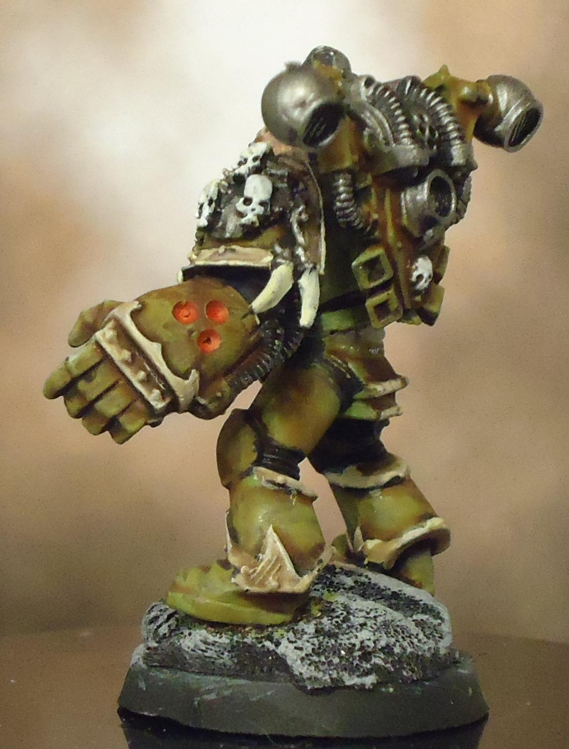 Chaos Space Marines, Death Guard, Decay, Nurgle, Plague Marines, Power Fist, Rot