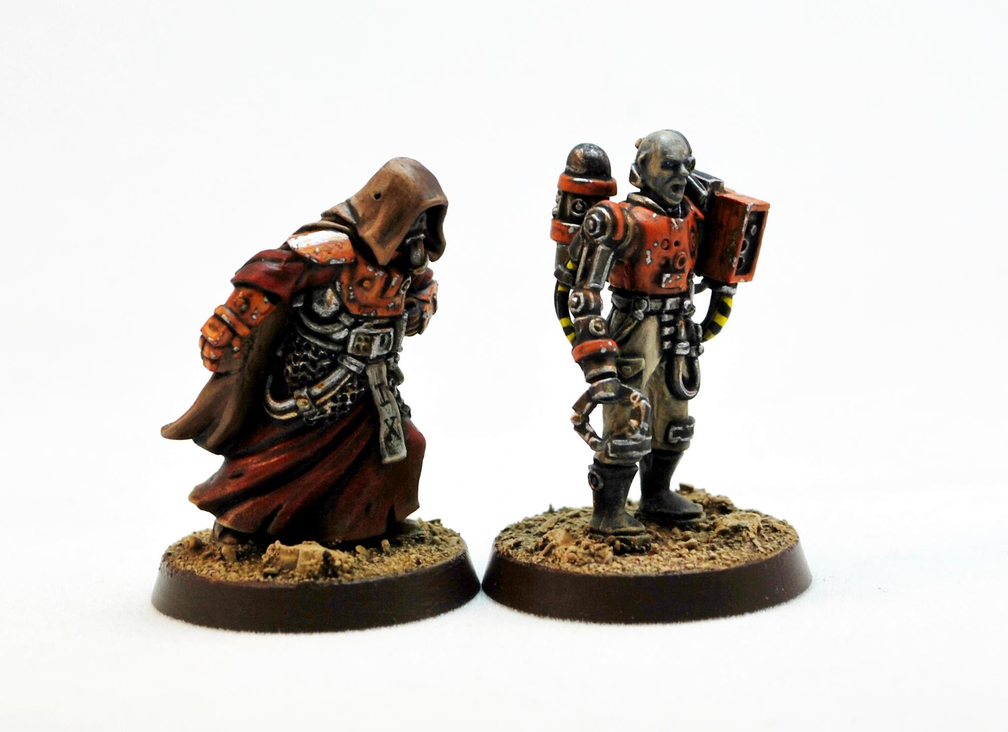 Adeptus Mechanicus, Miniatures Of The North, Servitors, Tech Priest, Techno Communion