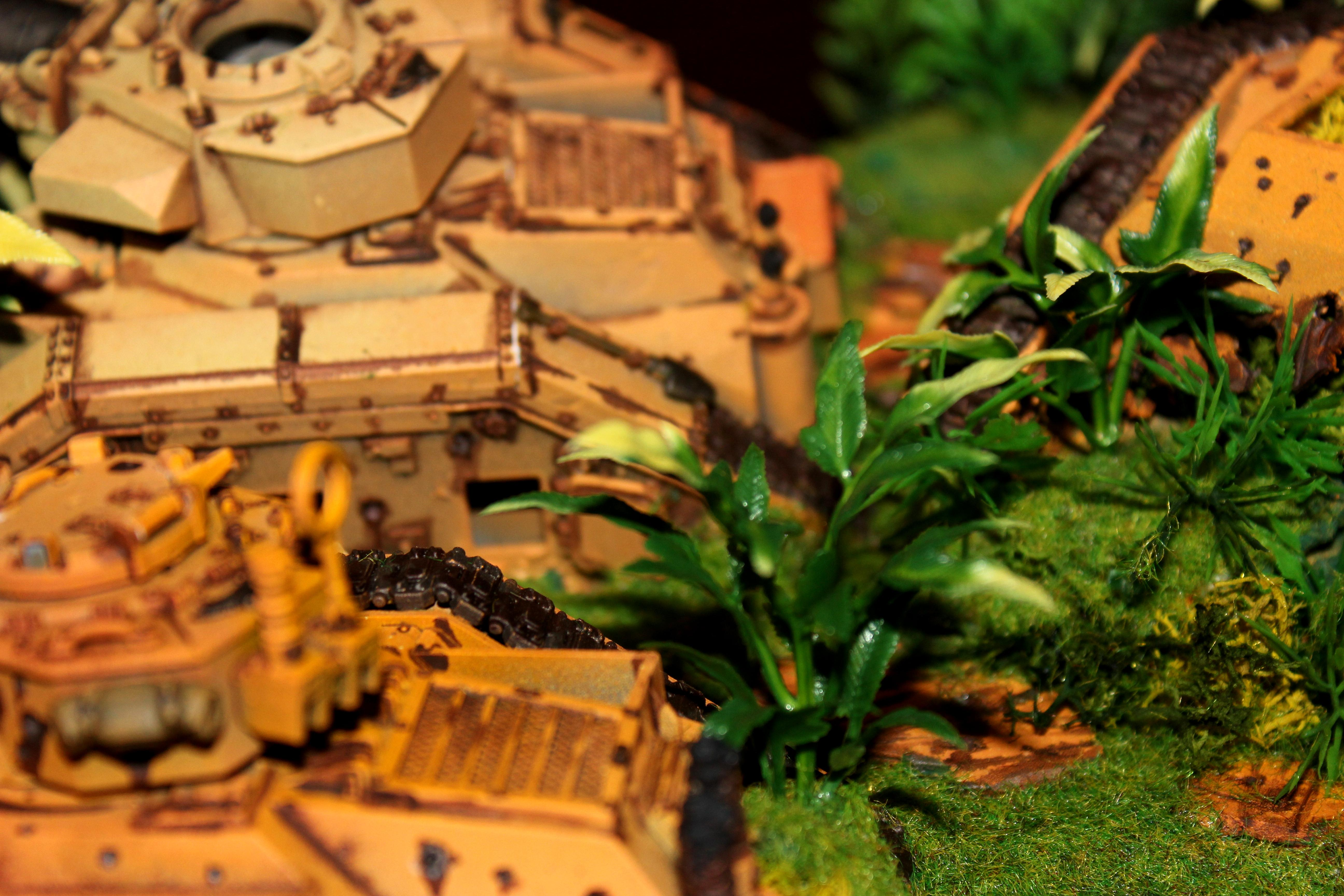 Banblade, Basilisk, Catachan, Chimäre, Chimera, Corossion, Dschungel, Gelände, Geländestücke, Imperial Army, Jungle, Leman Russ, Rust, Tank, Terrain, Warhammer 40,000, Wrack