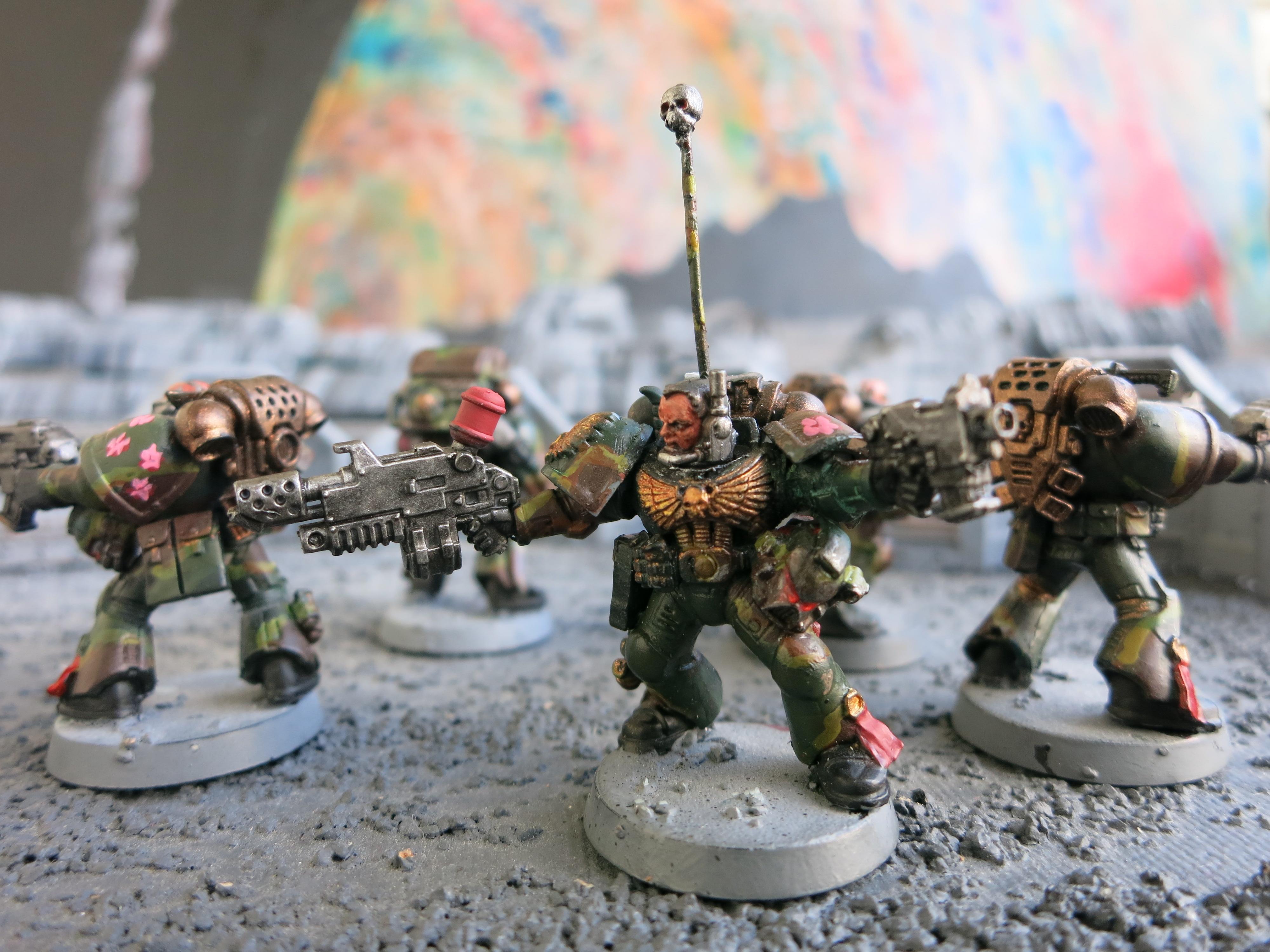 Camouflage, Combi-flamer, Dark Angels, Sergeant
