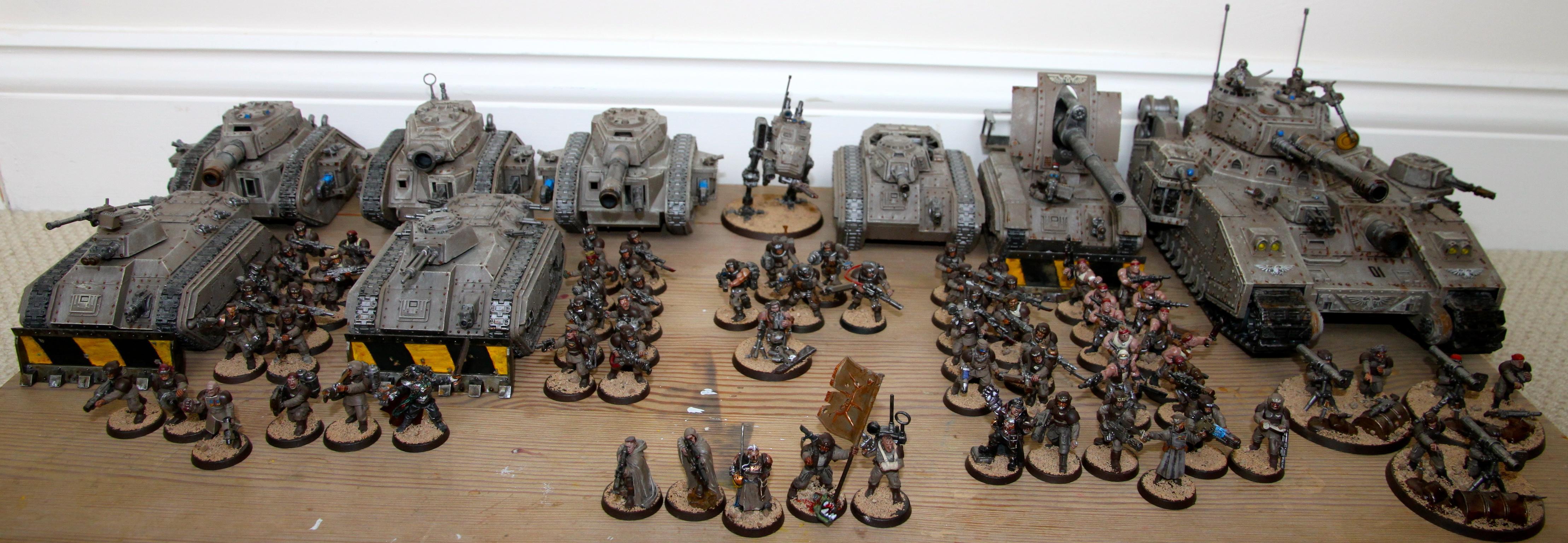 Armored Company, Baneblade, Basilisk, Chimera, Demolisher, Full Army, Imperial Guard, Leman Russ, Sentinel