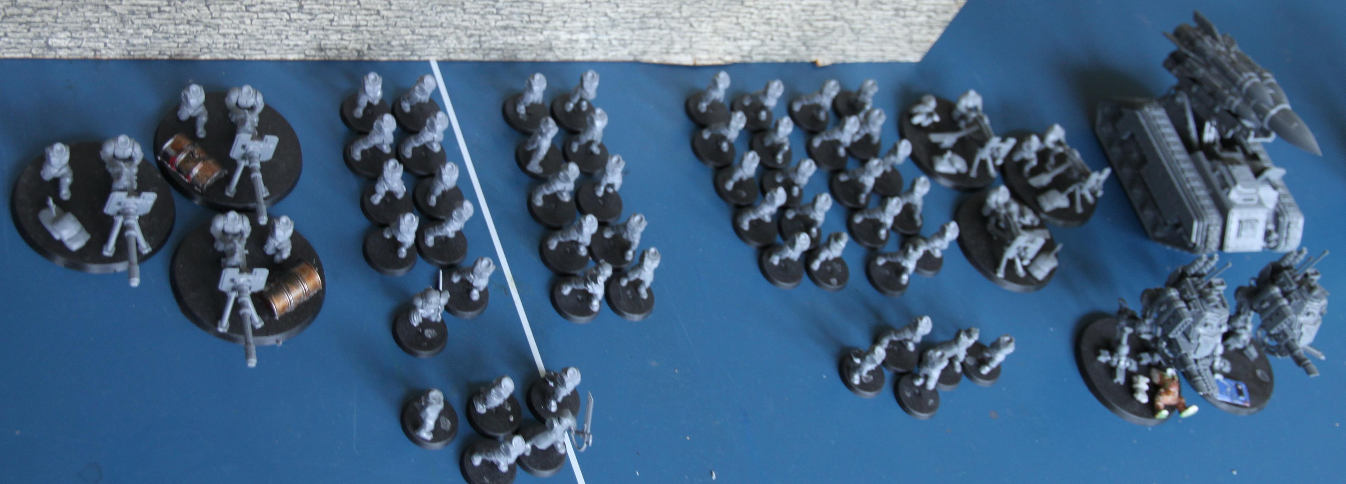 Still to do... (sentinels & deathstrike are done & 20 cadians made up the vets)