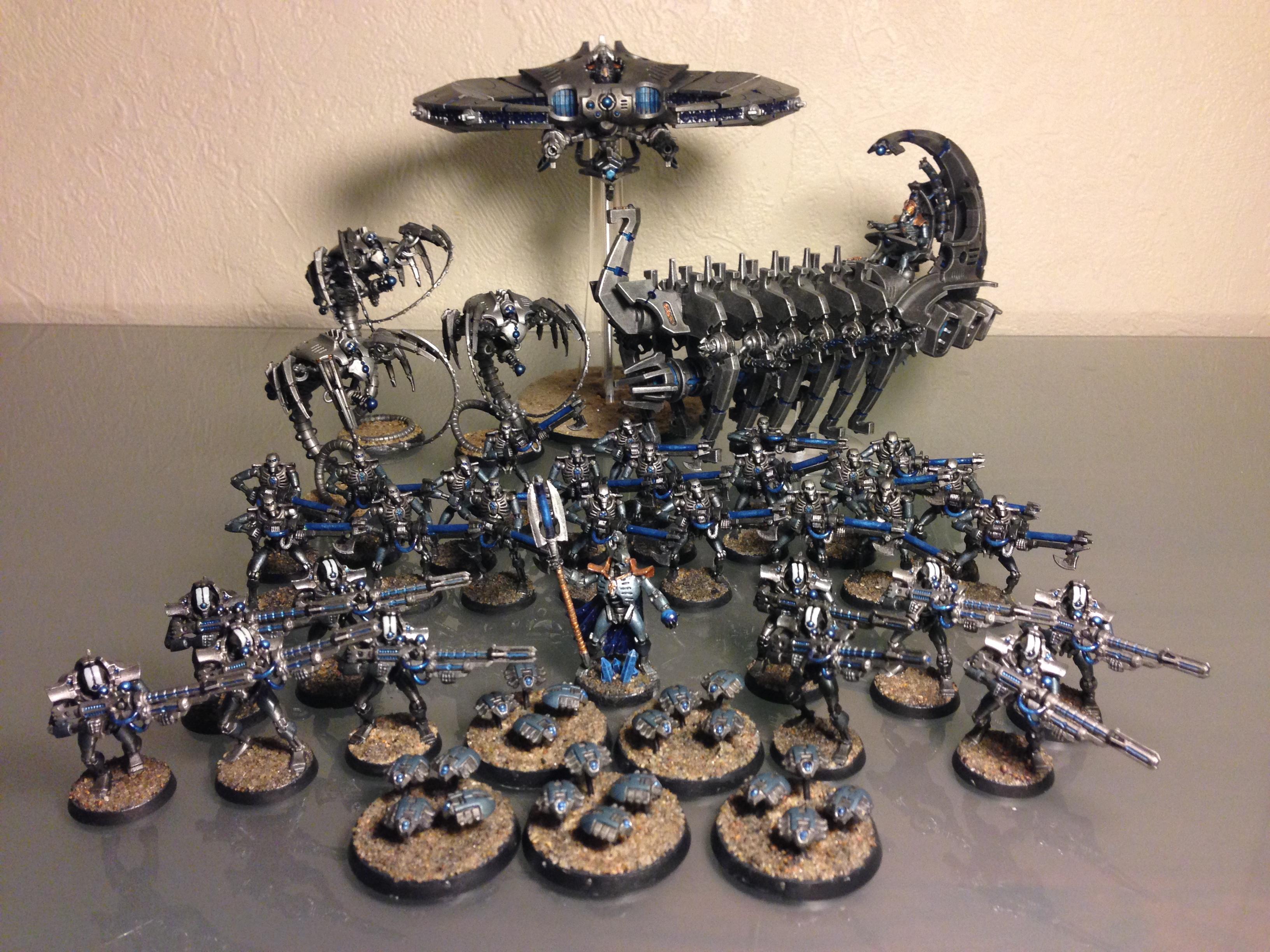 Deathmarks, Necron Lord, Necrons, Necrontyr, Thokt, Warriors, Wraiths