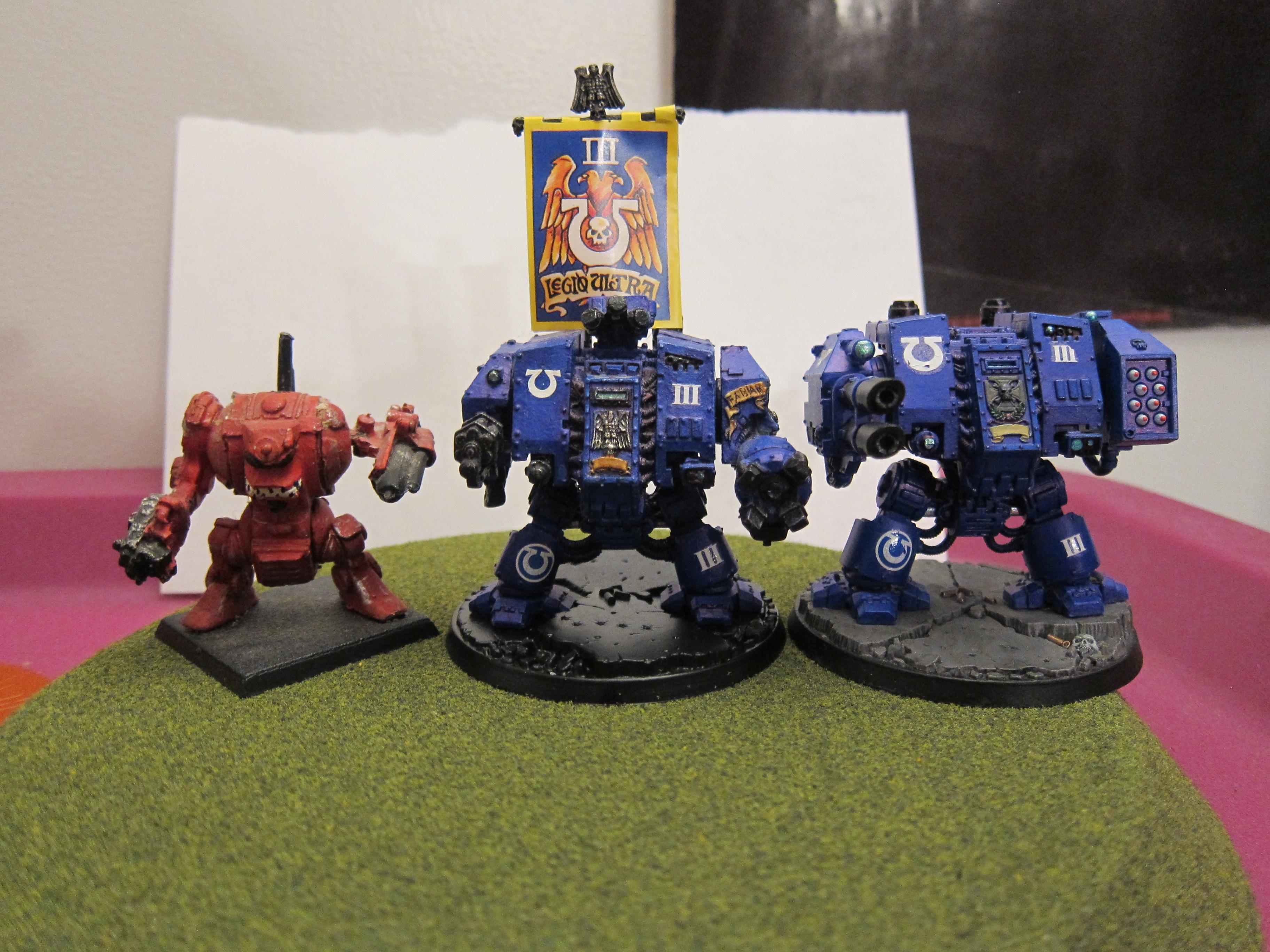 Dreadnought, Space Marines, Ultramarines, Warhammer 40,000