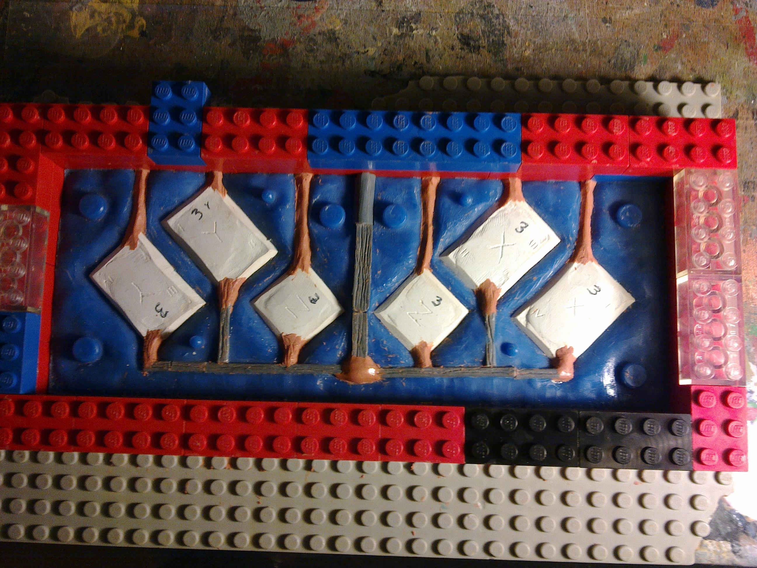 Box 3 moulding in progress