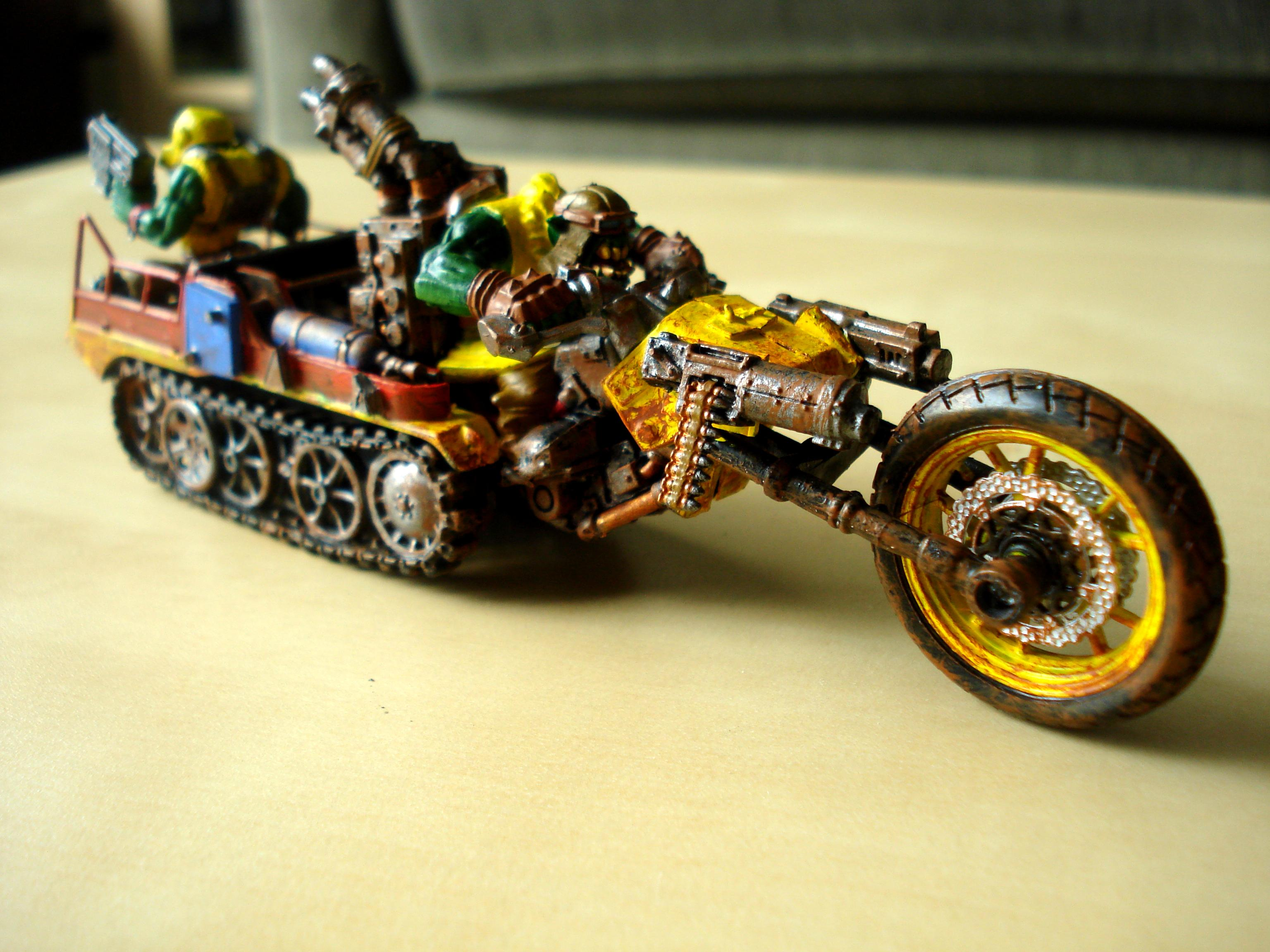 Ork Bike, Ork War Trakk, Scratch Build