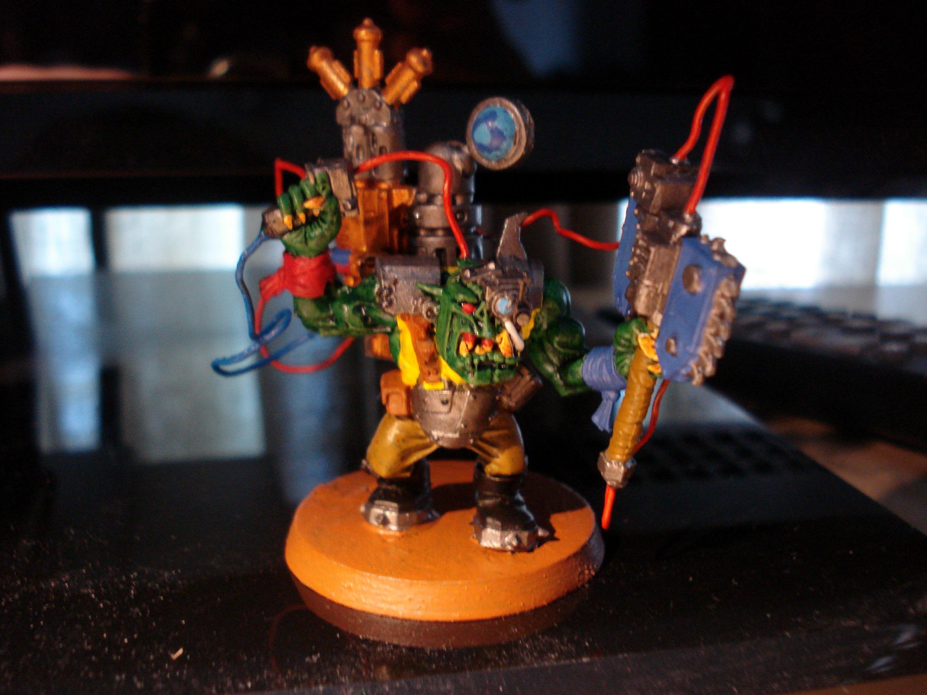 Custom Force Field, Kustom Force Field, Ork Big Mek, Orks, Scratch Build
