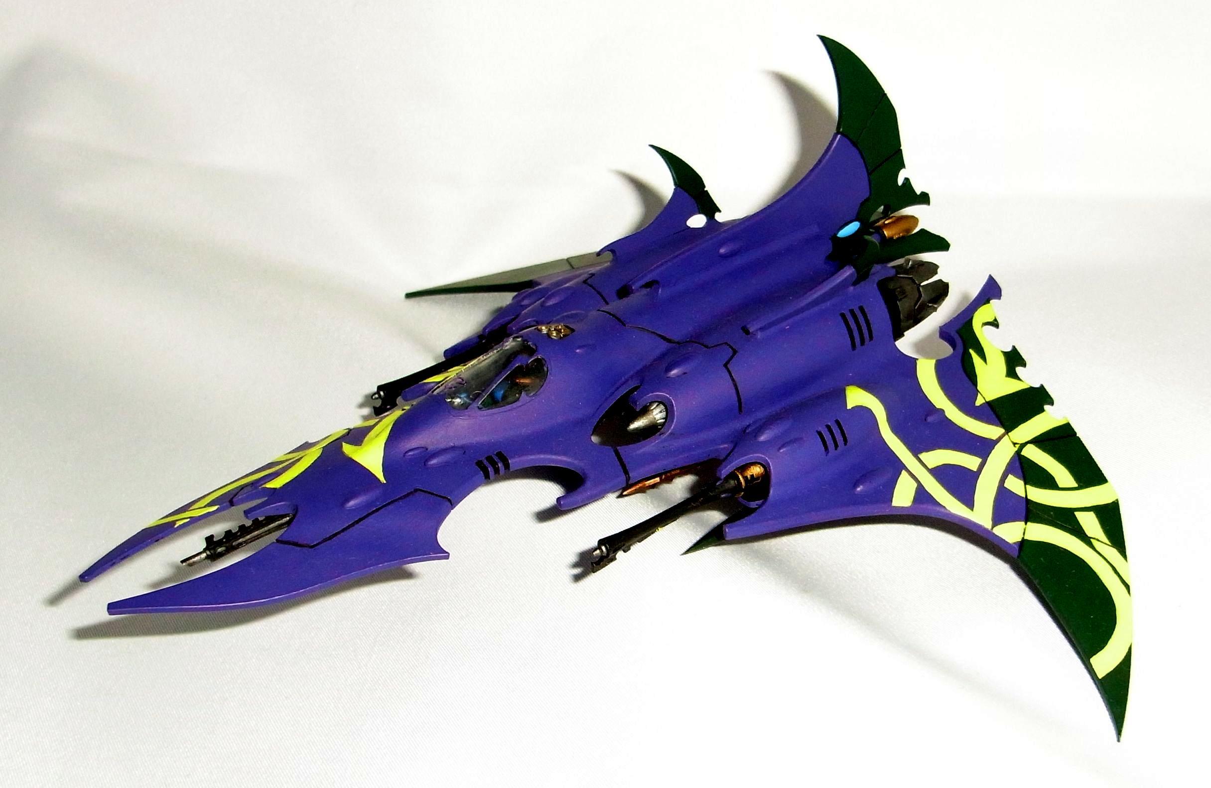 Aircraft, Dark, Eldar, Fighter, Korbenn, Plane, Purple, Razorwing