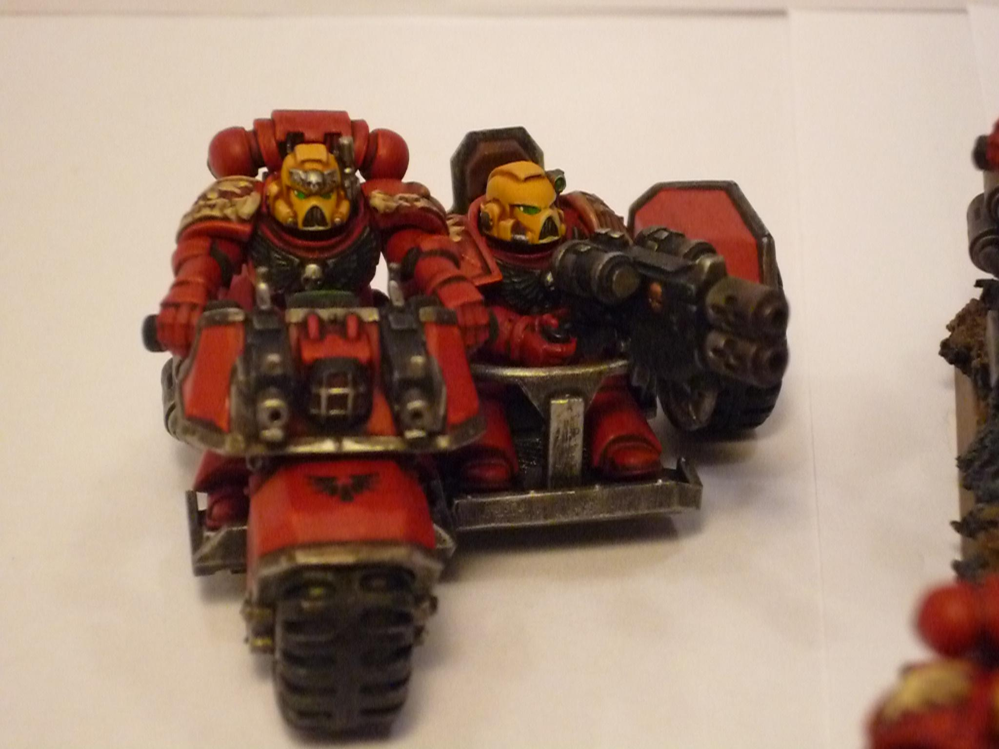 Astartes, Attack Bike, Bike, Blood Angels, Fast Attack, Red, Space Marines, Warhammer 40,000, Yellow, Yellow Helmet