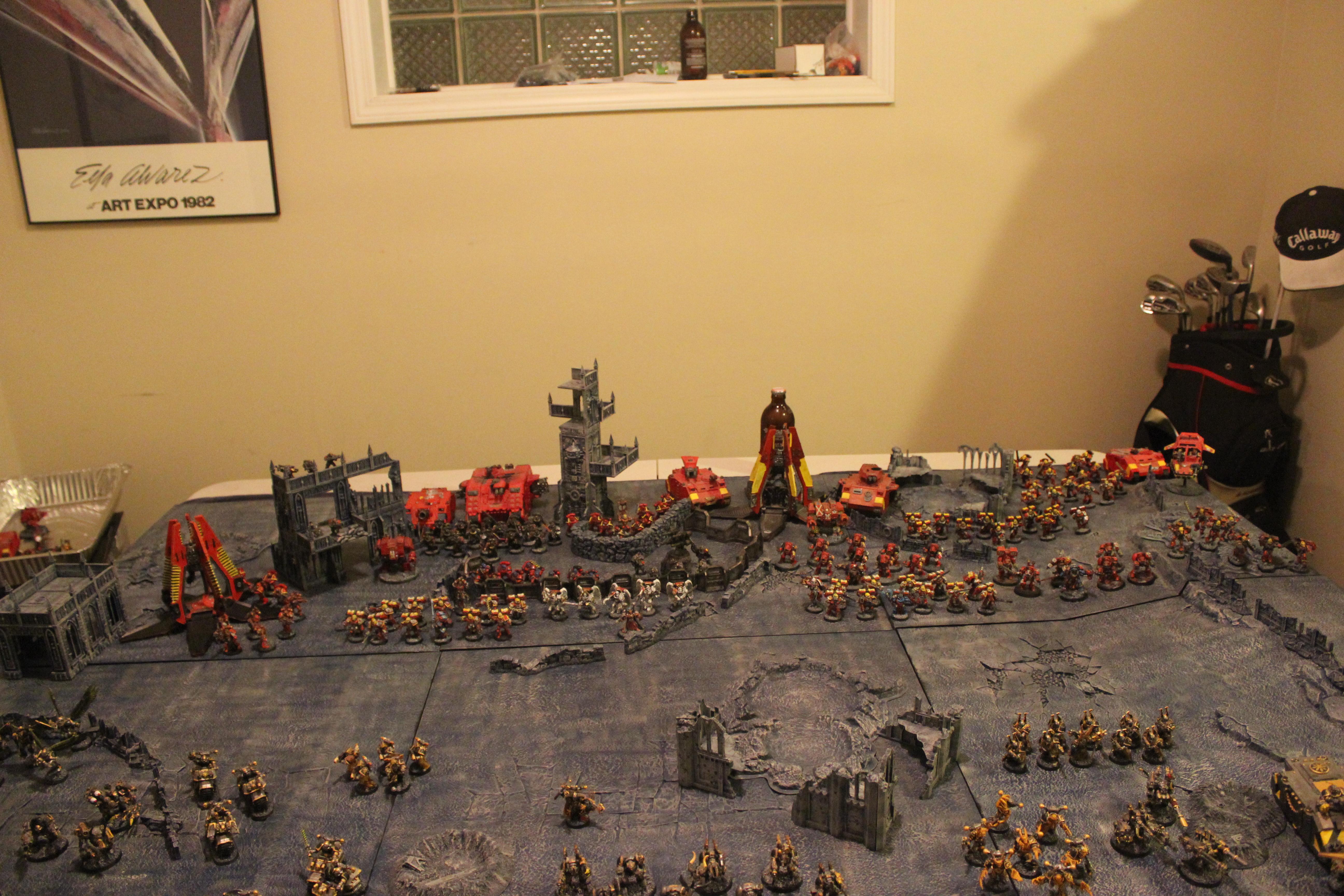 Apocalypse, Battle, Blood Angels, Iron Warriors, Large