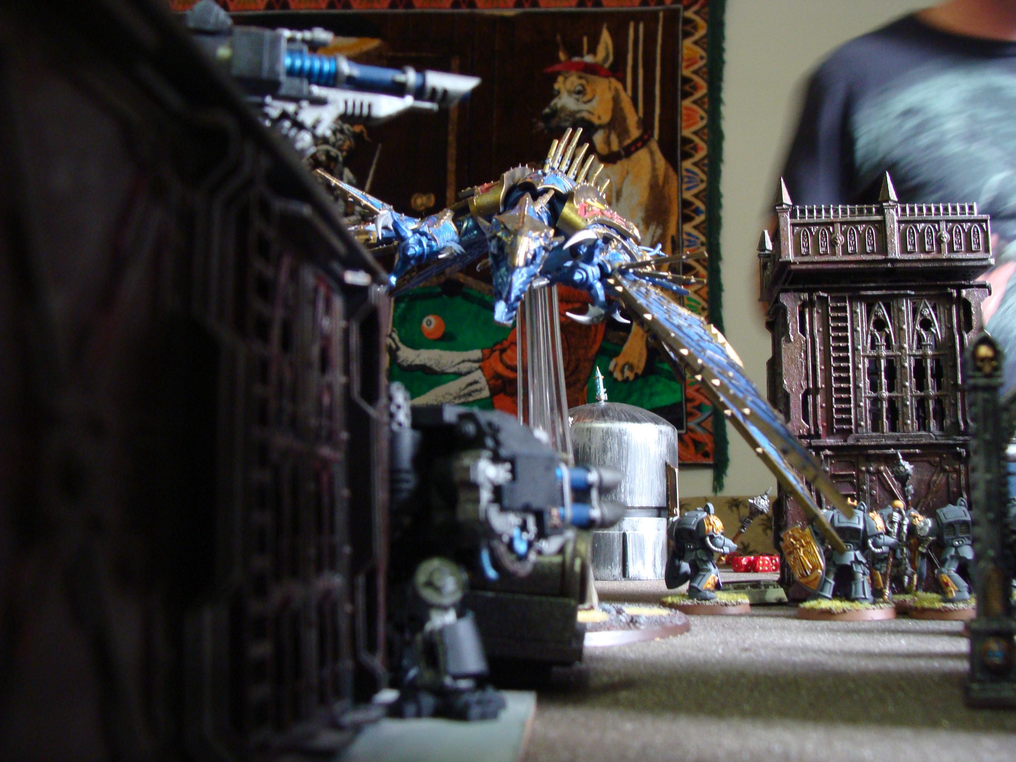 Battle, Battle Report, Chaos, Daemons, Deathwing, Nurgle, Orks, Raven Guard, Report, Space Marines, Thousand Sons, Tzeentch