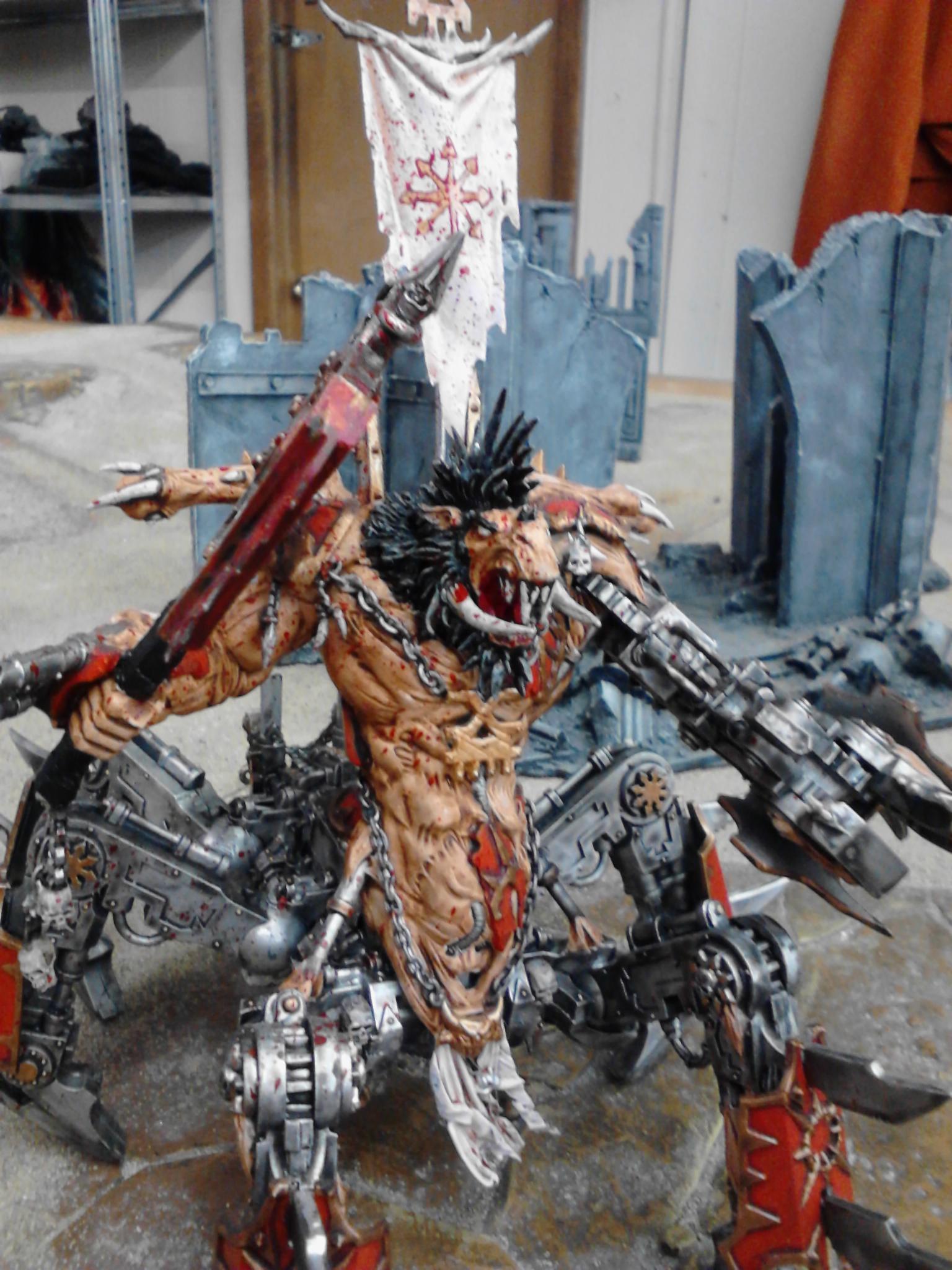 Axe, Chaos, Chaos Daemons, Conversion, Khorne, Soul Grinder