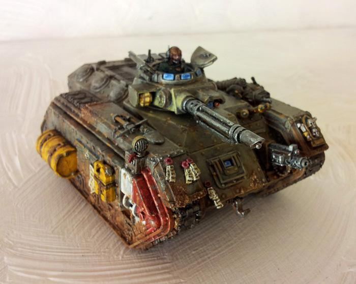 Conversion, Gass Mask, Imperial Guard, Mud, Soldier, Tank, Weathered