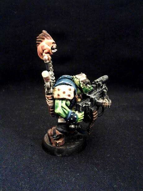 40k Warhammer, Conversion, Converting, Flash Gitz, Green, Orcs, Orks, Yellow Moon