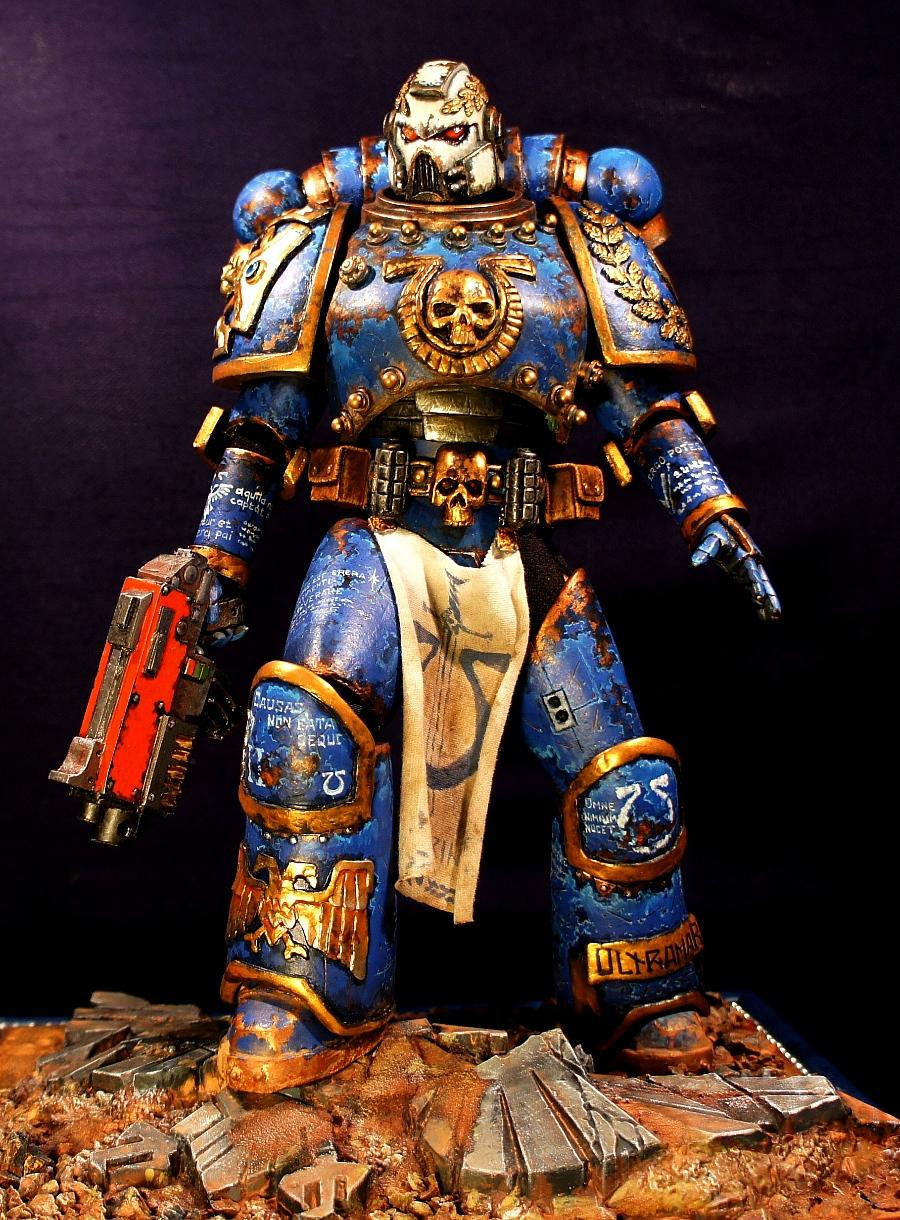 Champion, Loyalist, Space Marines, Ultramarines, Veteran, W40k, Warhammer 40,000