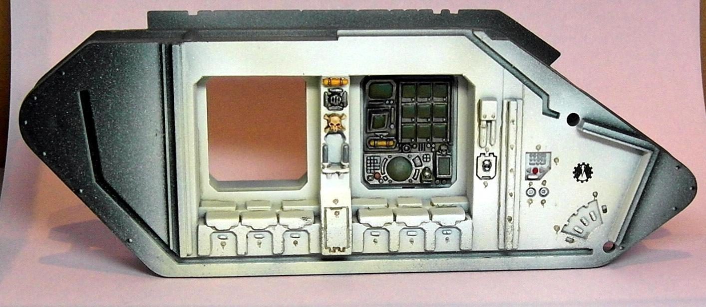 Interior, Iron Hands, Land Raider, Space Marines