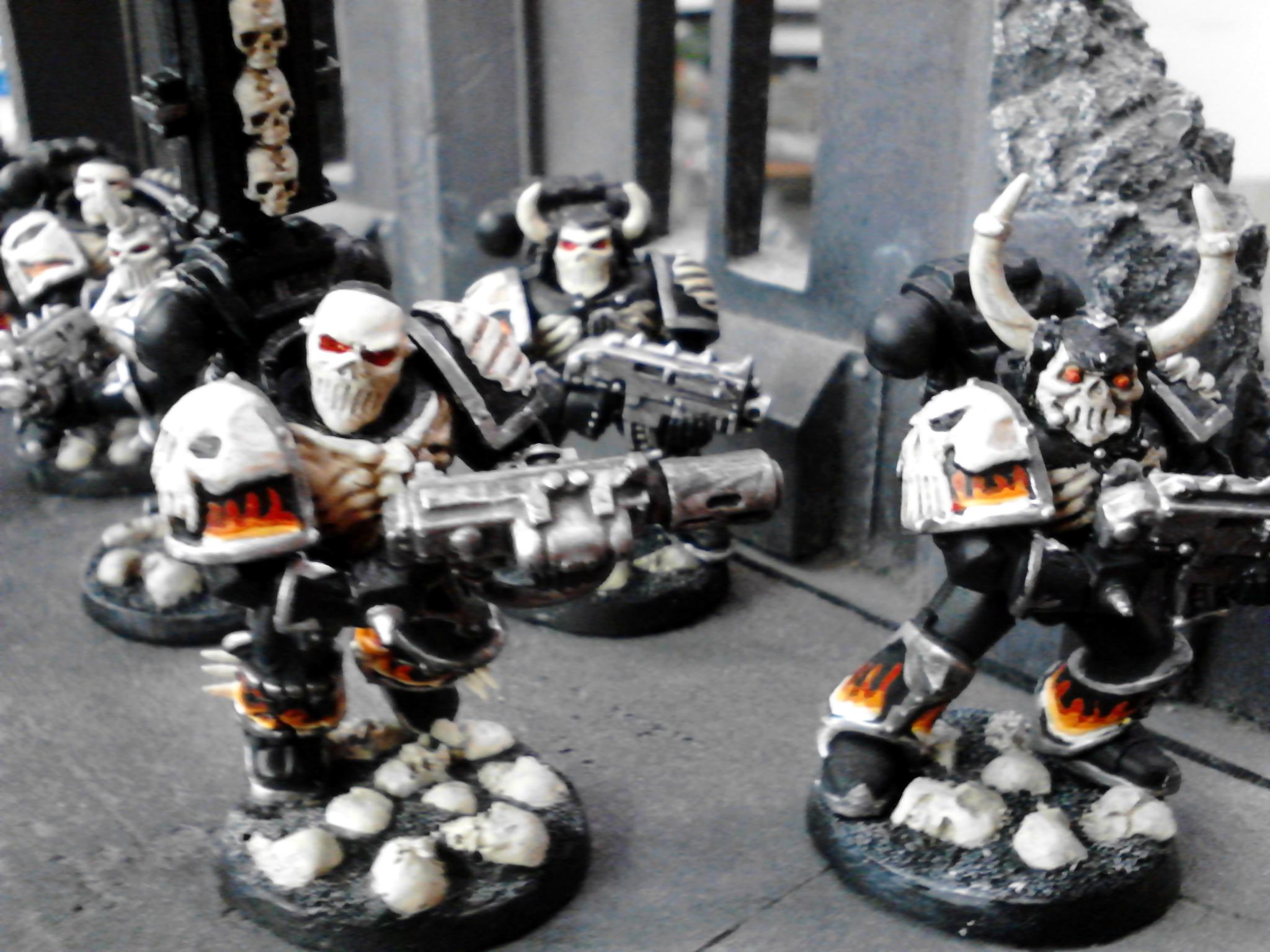 Bolter, Budget, Fire, Flames, Legion Of The Damned, Meltagun, Ribs, Skull